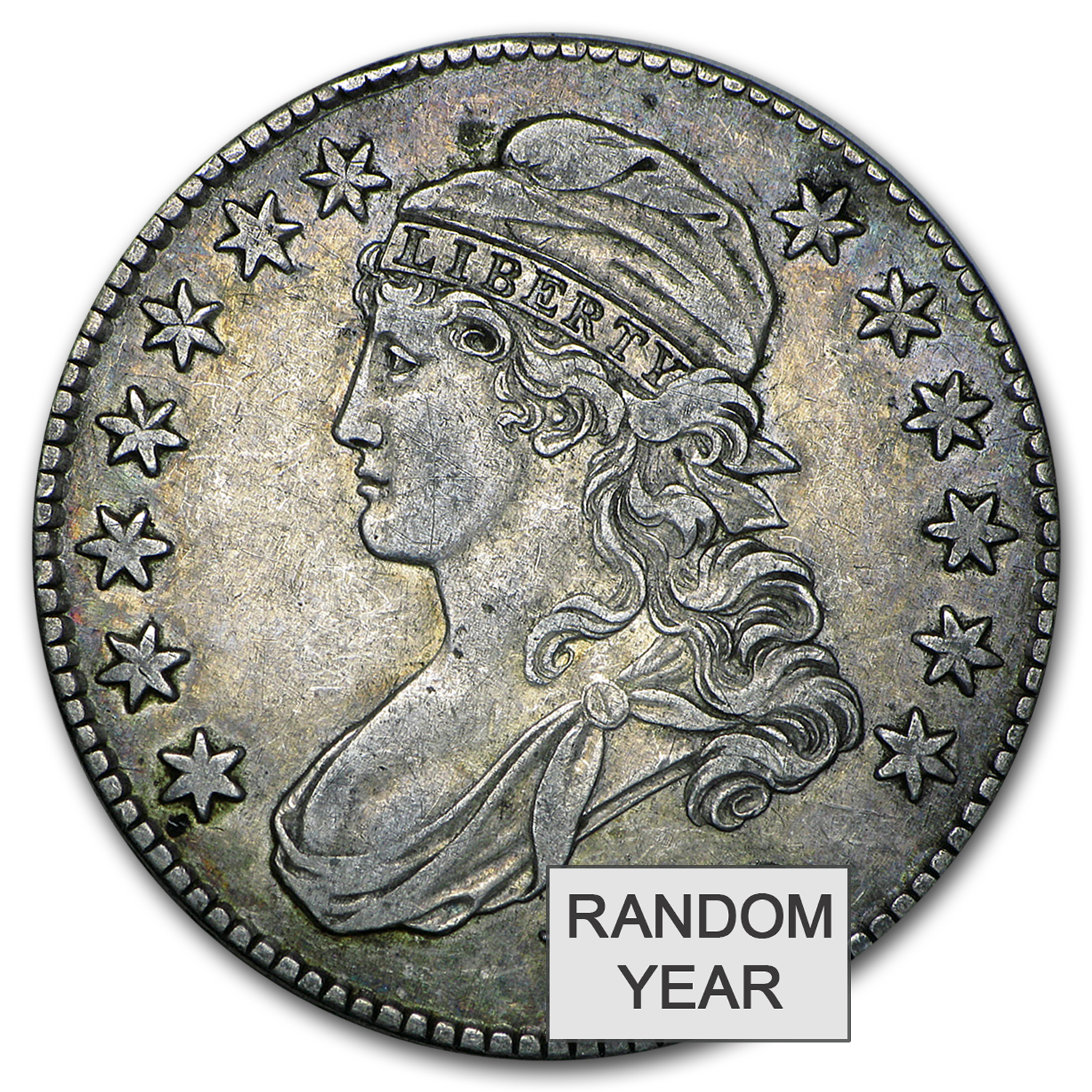 1808-1836 Capped Bust Silver Half Dollars XF/Better
