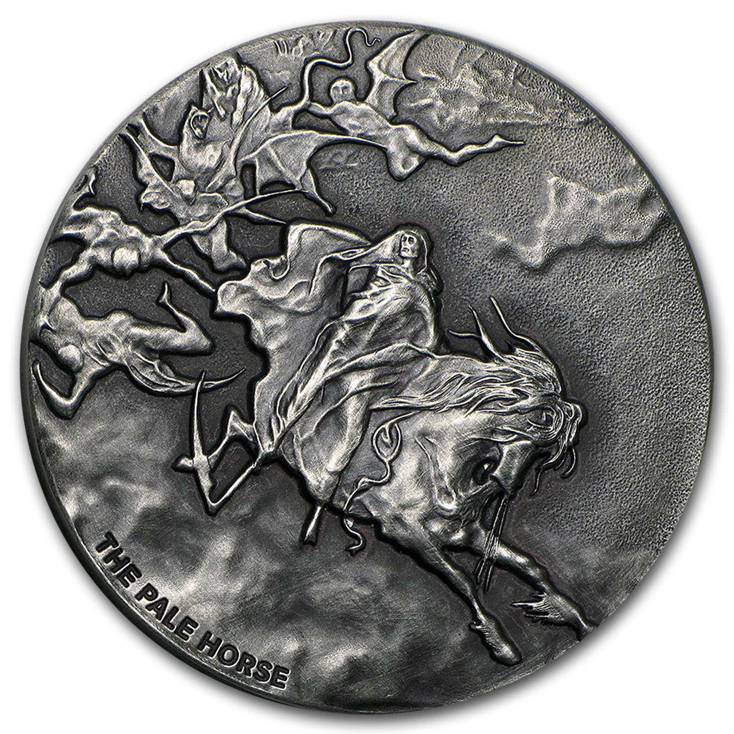 2015 2 oz Silver Coin - Biblical Series (Pale Horse)