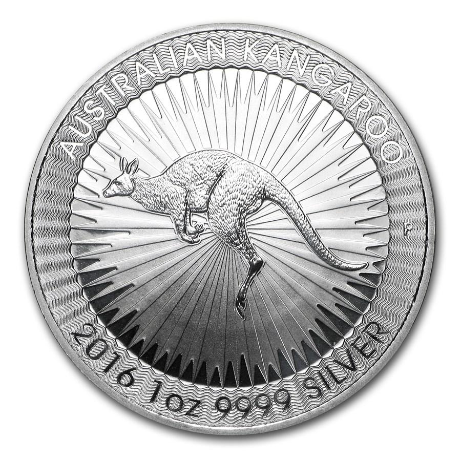 2016 Australia 1 Oz Silver Kangaroo Bu Perth Mint