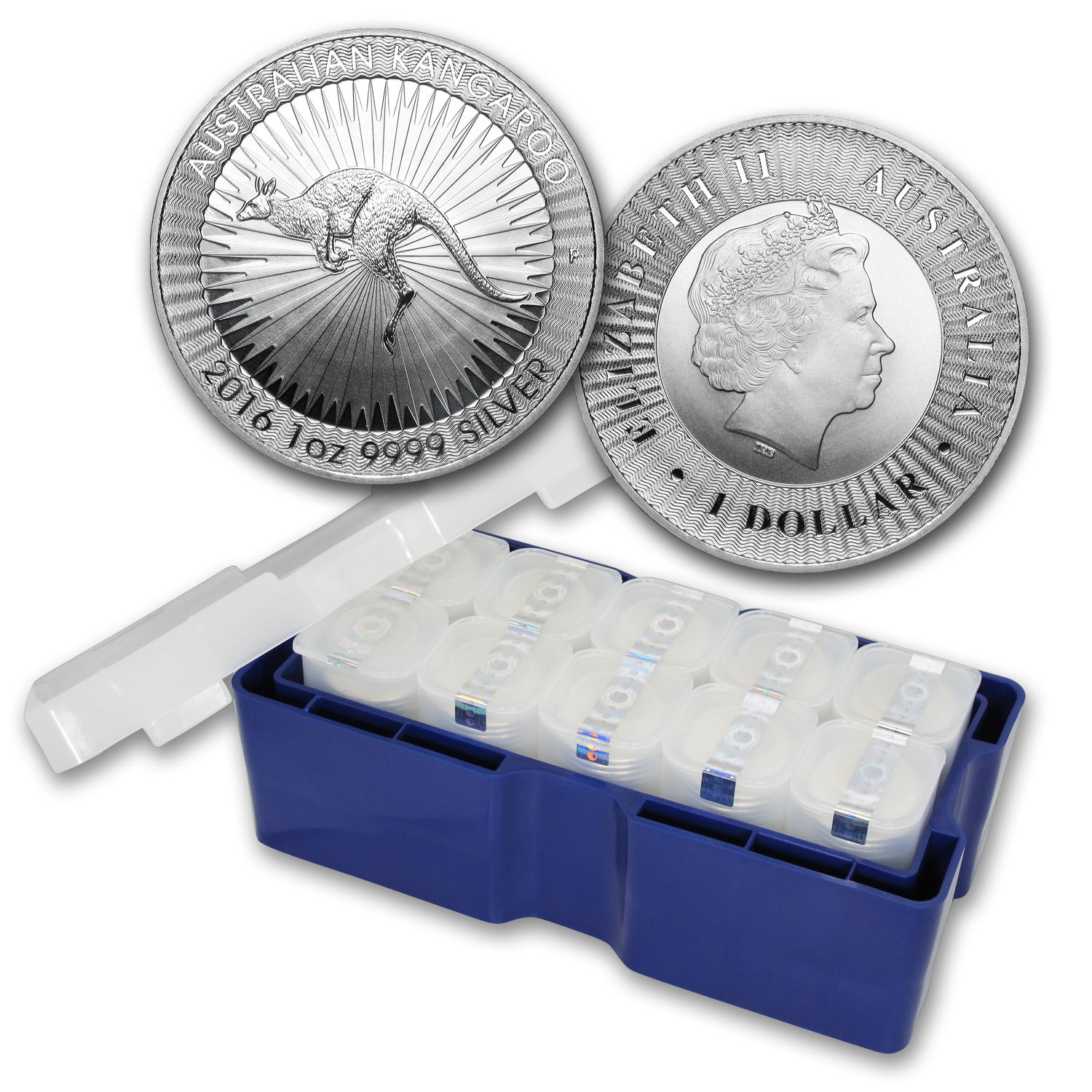 2016 250-Coin AUS 1 oz Silver Kangaroo Mini Monster Box BU