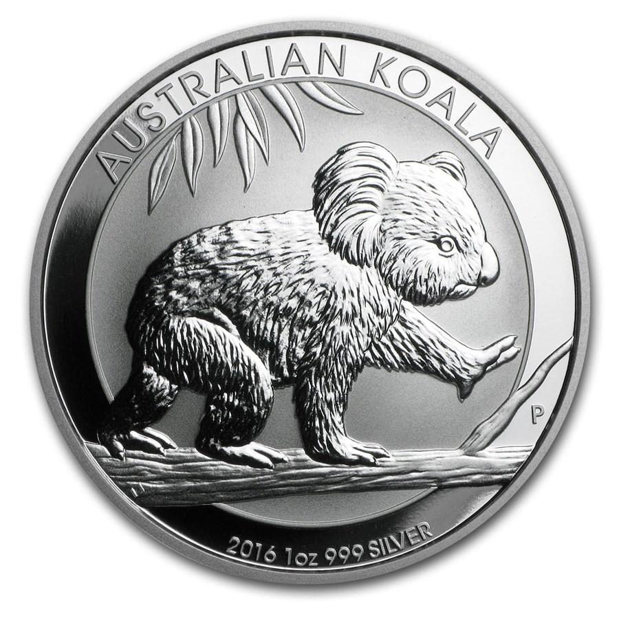 2016 Australia 1 Oz Silver Koala Bu 2016 Perth Mint