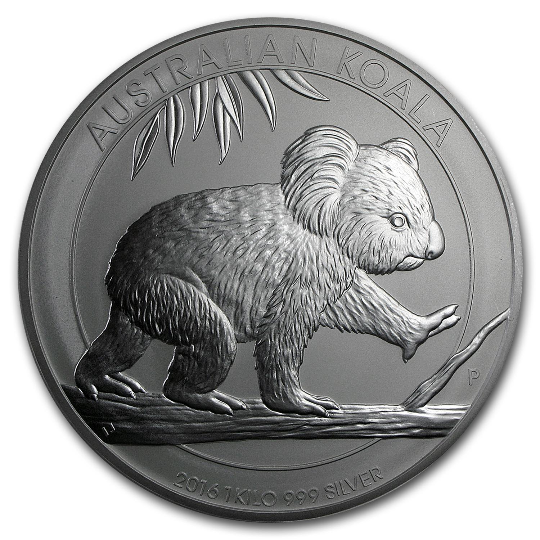 Kilo Silvers: 2016 Australia Kilo Oz Silver Koala BU