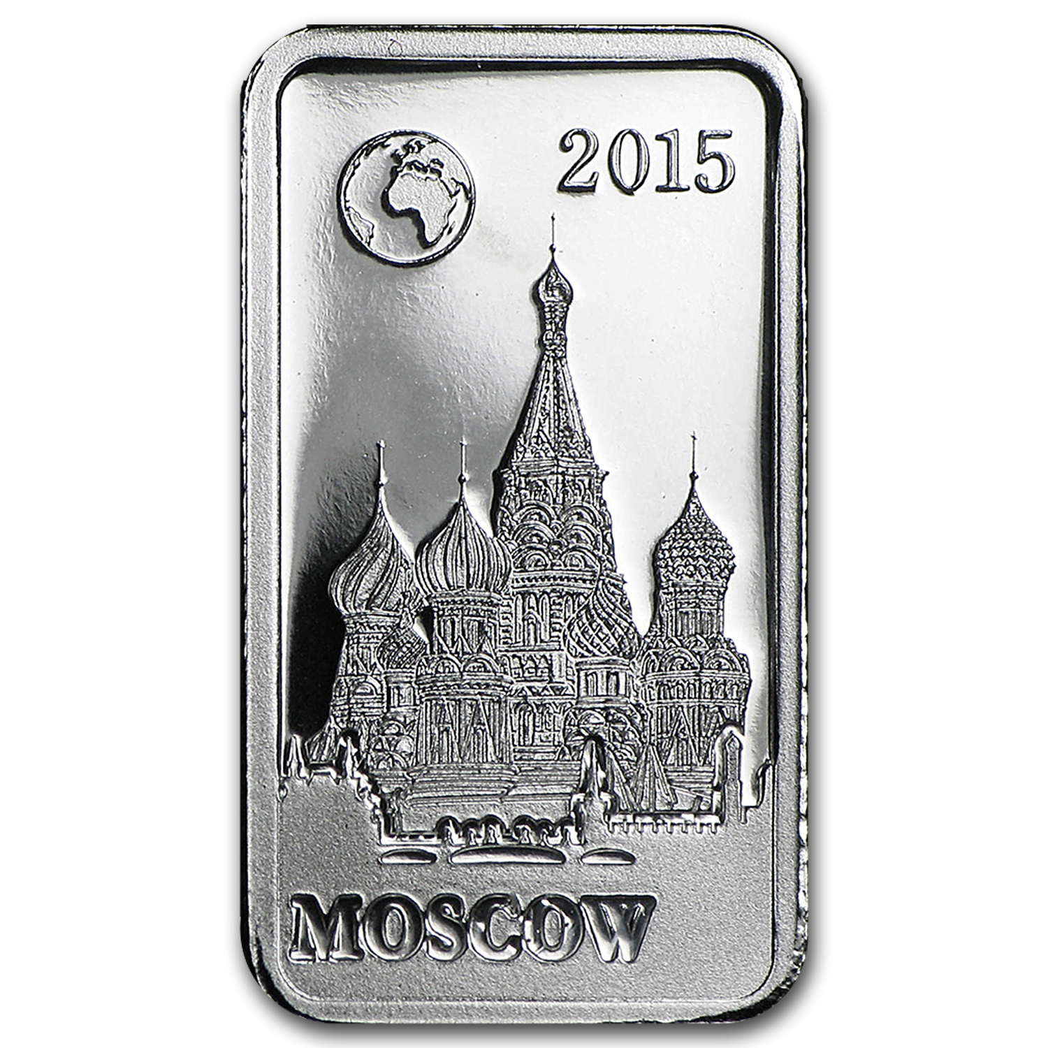 2015 Solomon Island 2.5 gr Silver Landmarks of the World (Moscow)