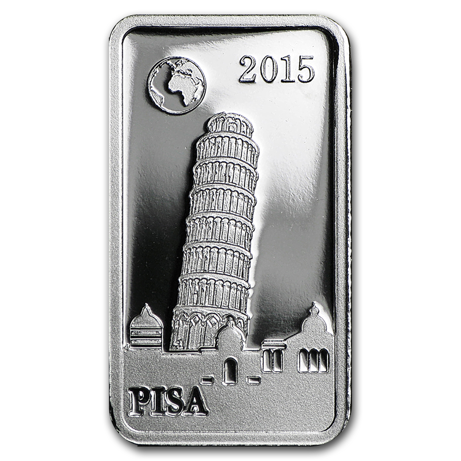 2015 Solomon Islands 2.5 gr Silver Landmarks of the World (Pisa)