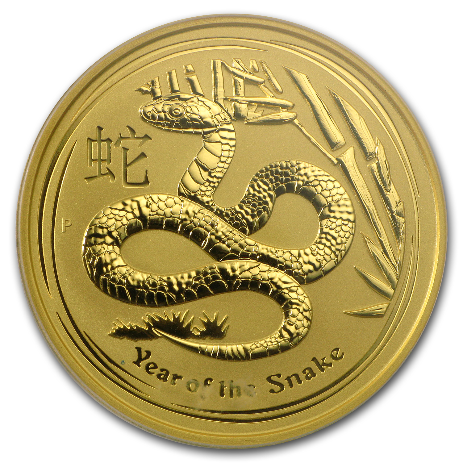 2013 2 oz Gold Lunar Year of the Snake MS-69 PCGS (Series II)
