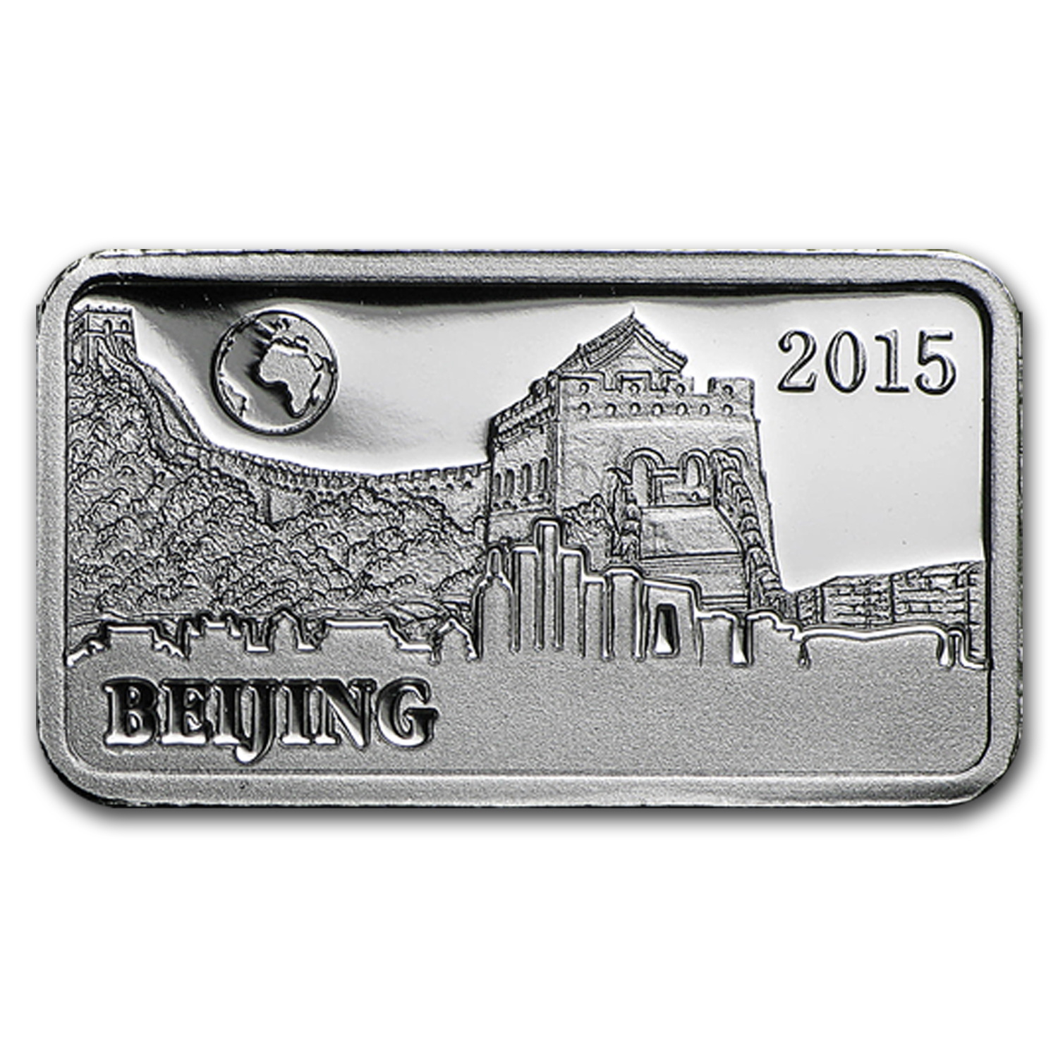 2015 Solomon Islds 2.5 gr Silver Landmarks of the World (Beijing)