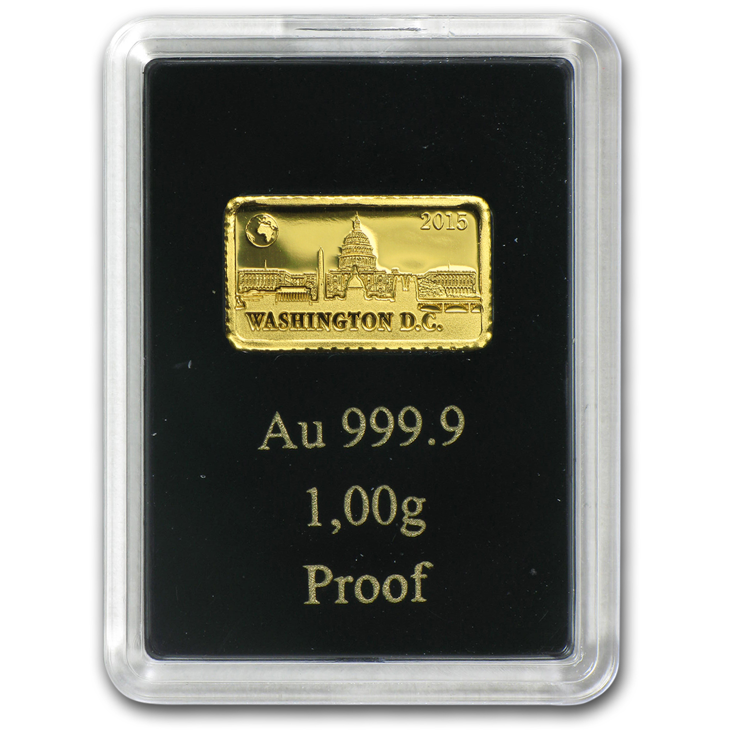 2015 Solomon Islands 1 gram Gold Landmarks of the World (Wash.)