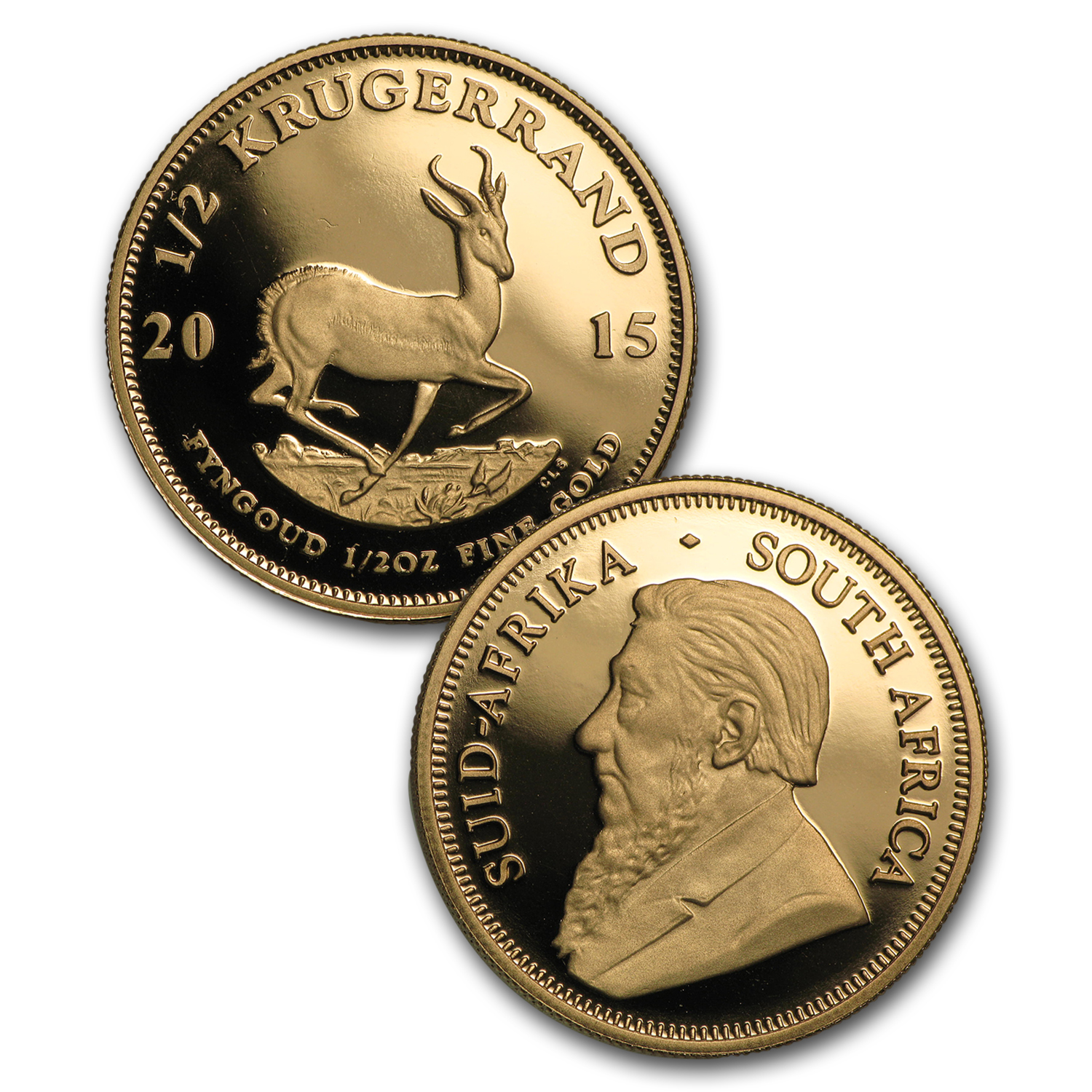 2015 S. Africa Gold & Silver Proof Krugerrand Prestige 4 Coin Set