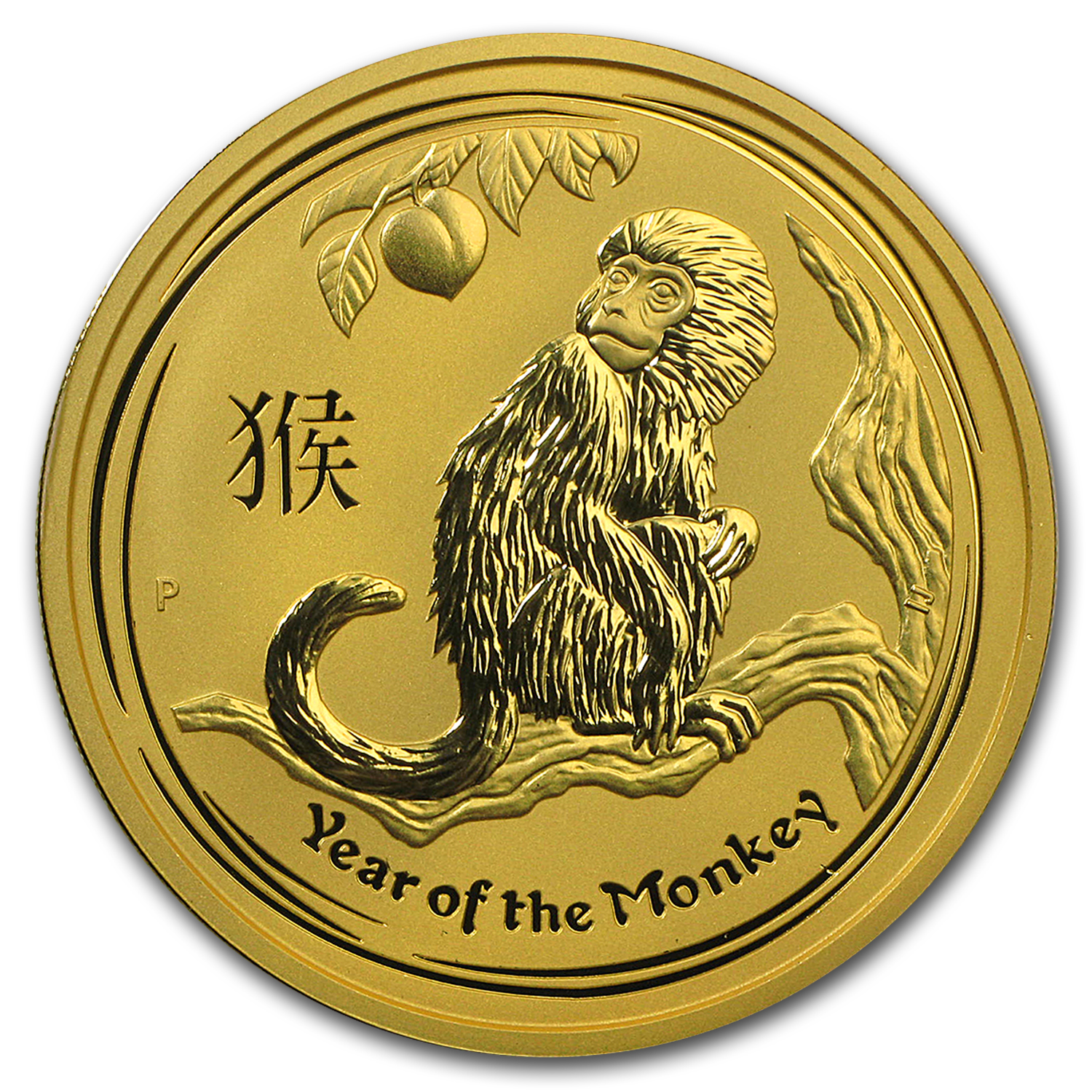 2016 Australia 2 oz Gold Lunar Monkey BU