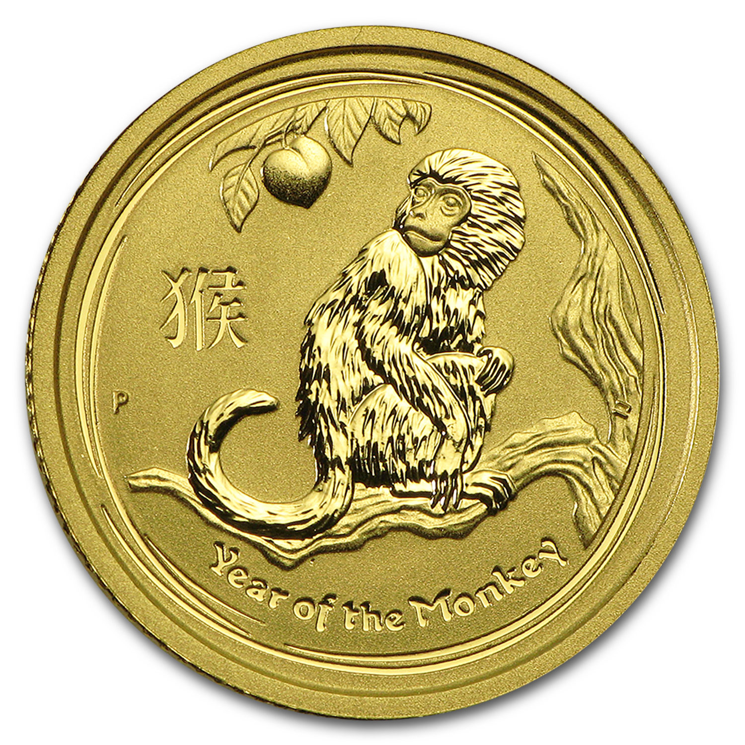 2016 Australia 1/10 oz Gold Lunar Monkey BU