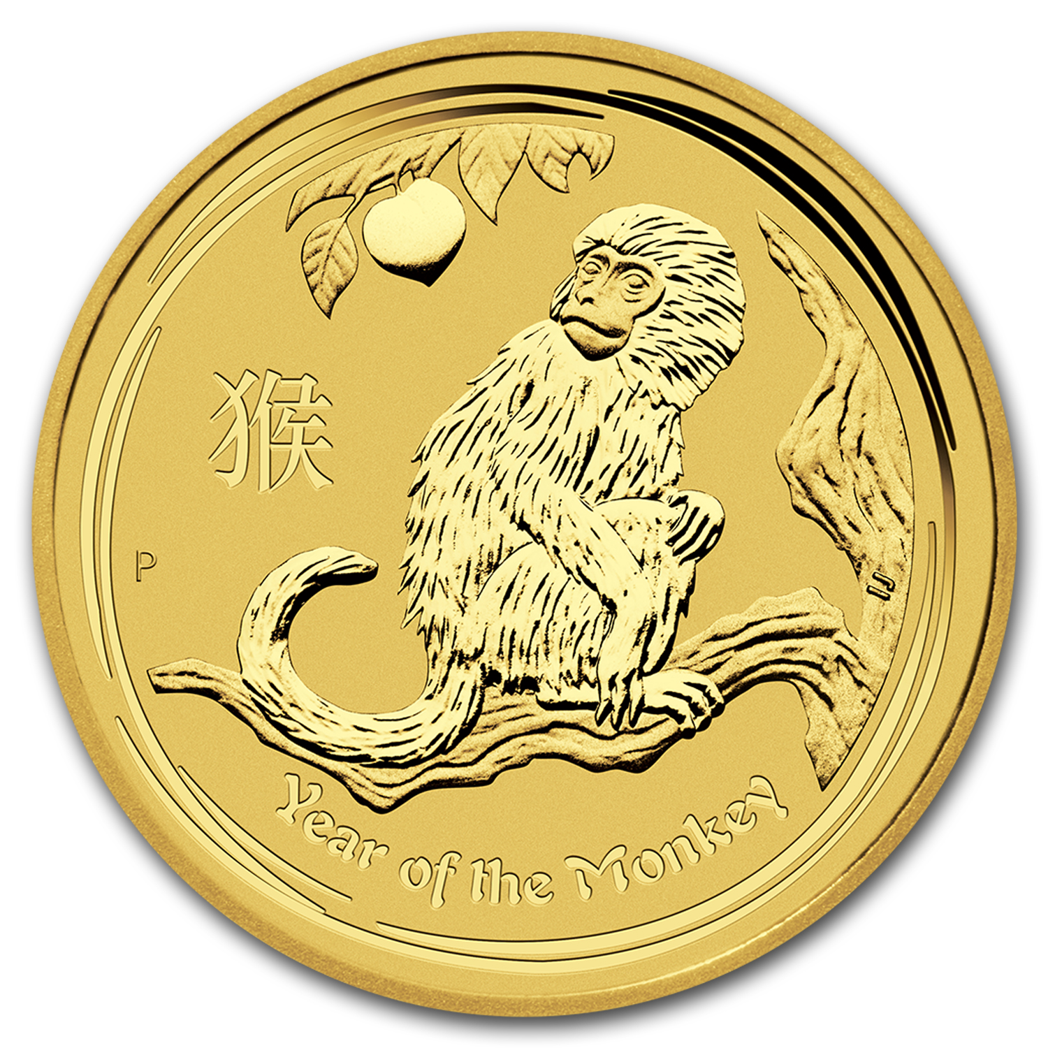 2016 Australia 1/20 oz Gold Lunar Monkey BU