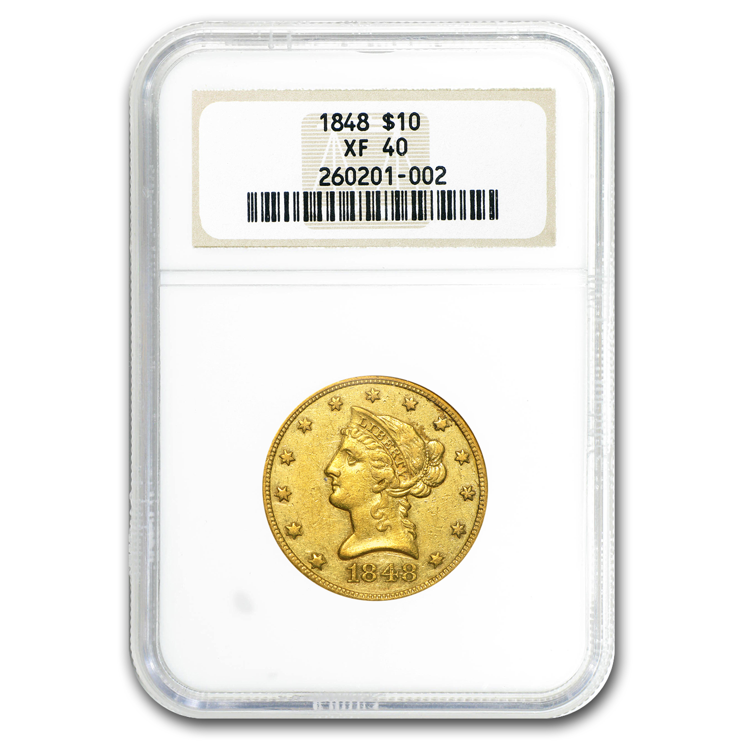 1848 $10 Liberty Gold Eagle XF-40 NGC