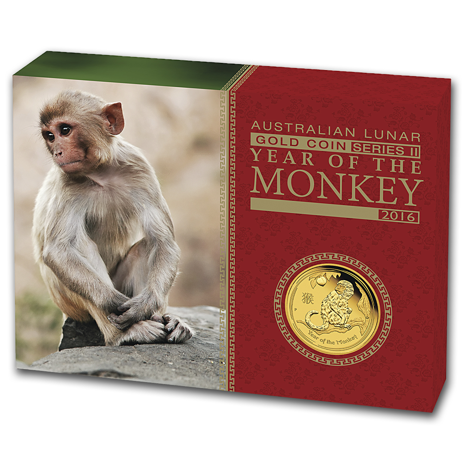 2016 Australia 1/4 oz Gold Lunar Monkey Proof (w/Box & COA)