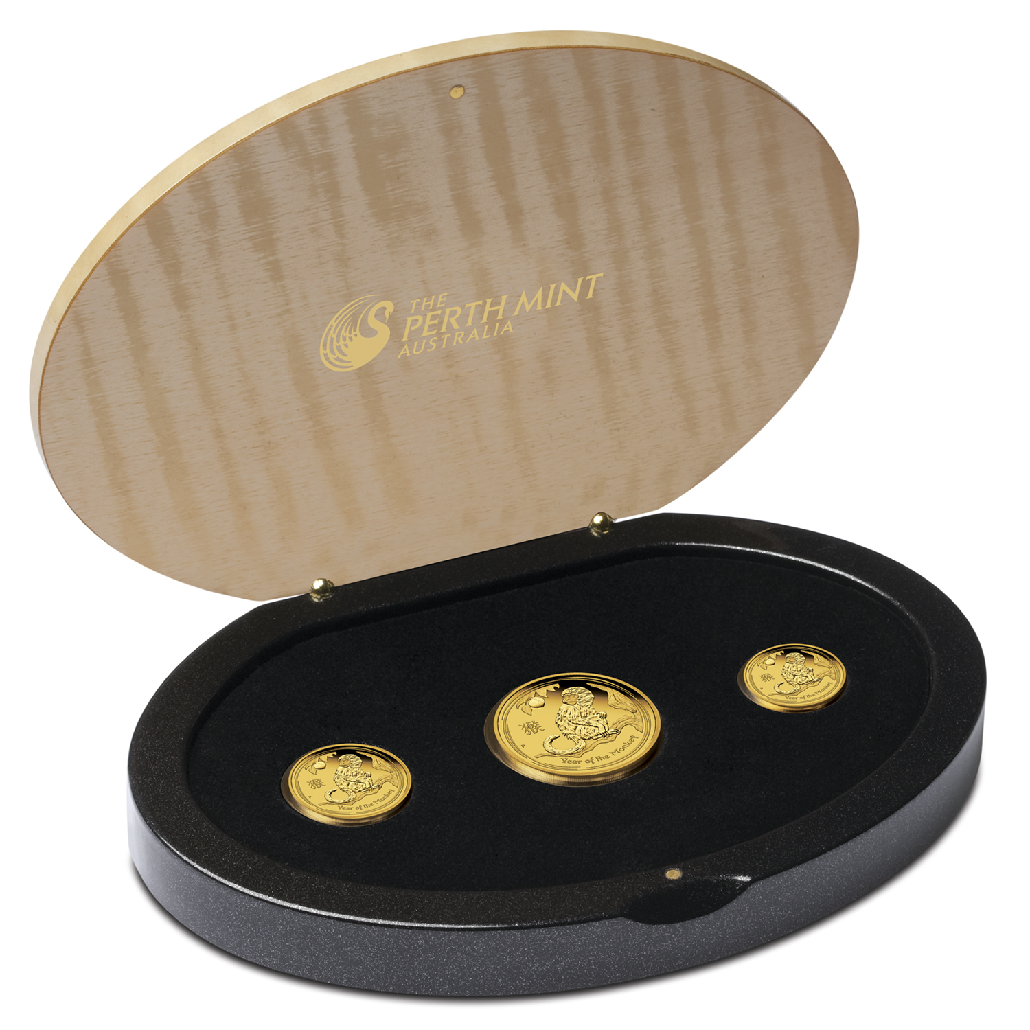 2016 3-Coin Gold Lunar Year of the Monkey Proof Set (1.35 oz)
