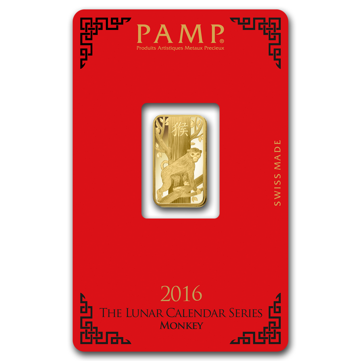 5 gram Gold Bar - PAMP Suisse Year of the Monkey (In Assay)