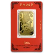 1 Oz Gold Bar Pamp Suisse Lady Fortuna In Assay Gold