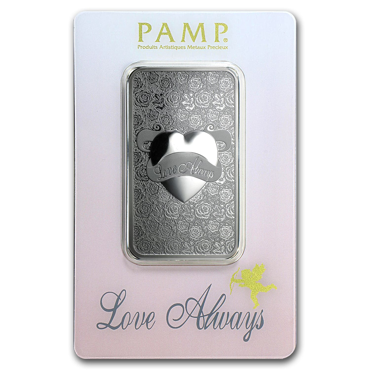 1 oz Silver Bar - PAMP Suisse (Love Always, In Assay)
