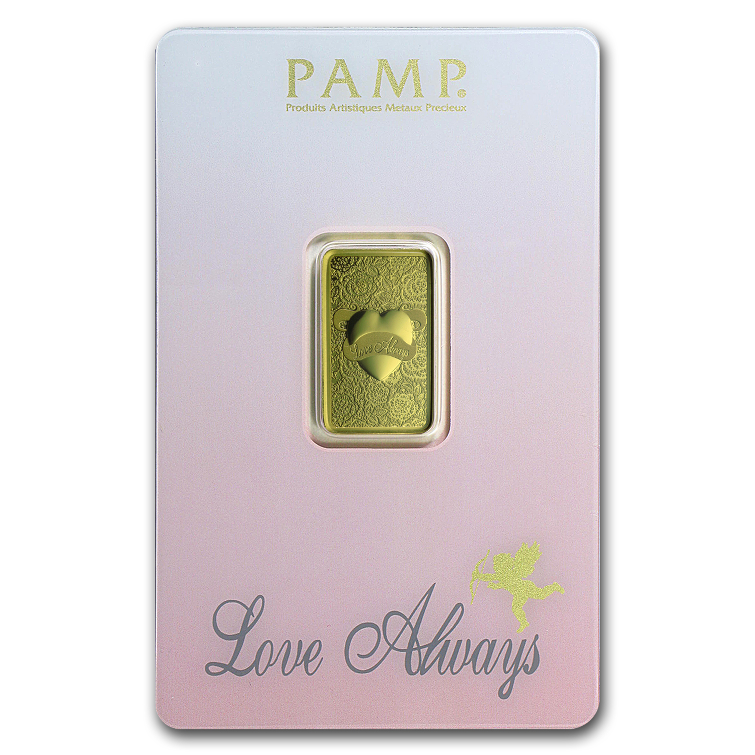 5 gram Gold Bar - PAMP Suisse Love Always (In Assay)