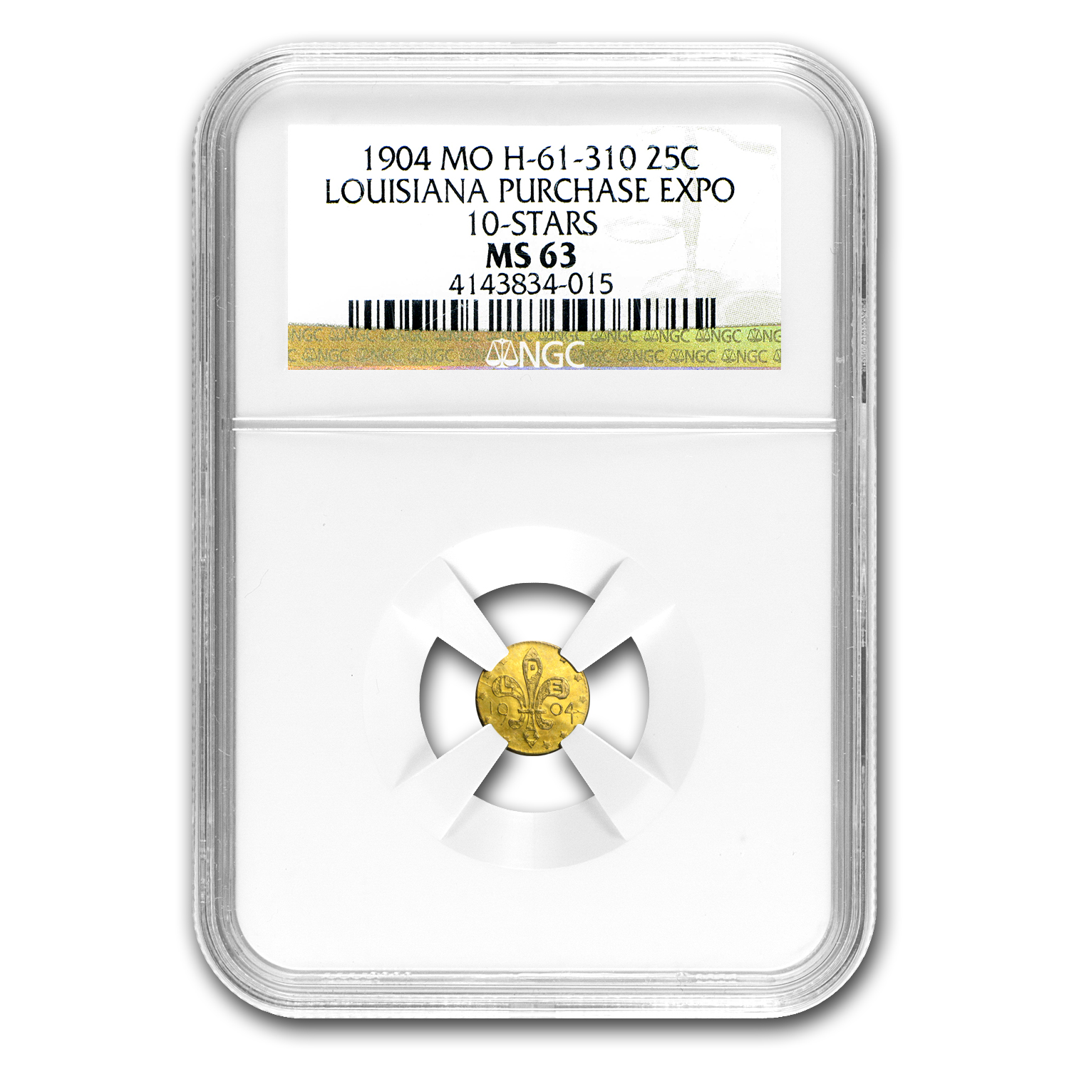 1904 Louisiana Purchase Expo 10-Stars Gold Token MS-63 NGC