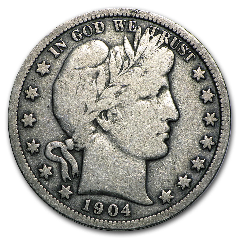 1904 S Barber Half Dollar Fine Value Of Silver
