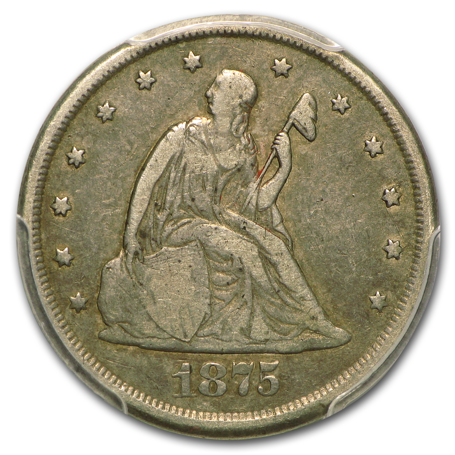1875-CC Twenty Cent Piece VF-20 PCGS