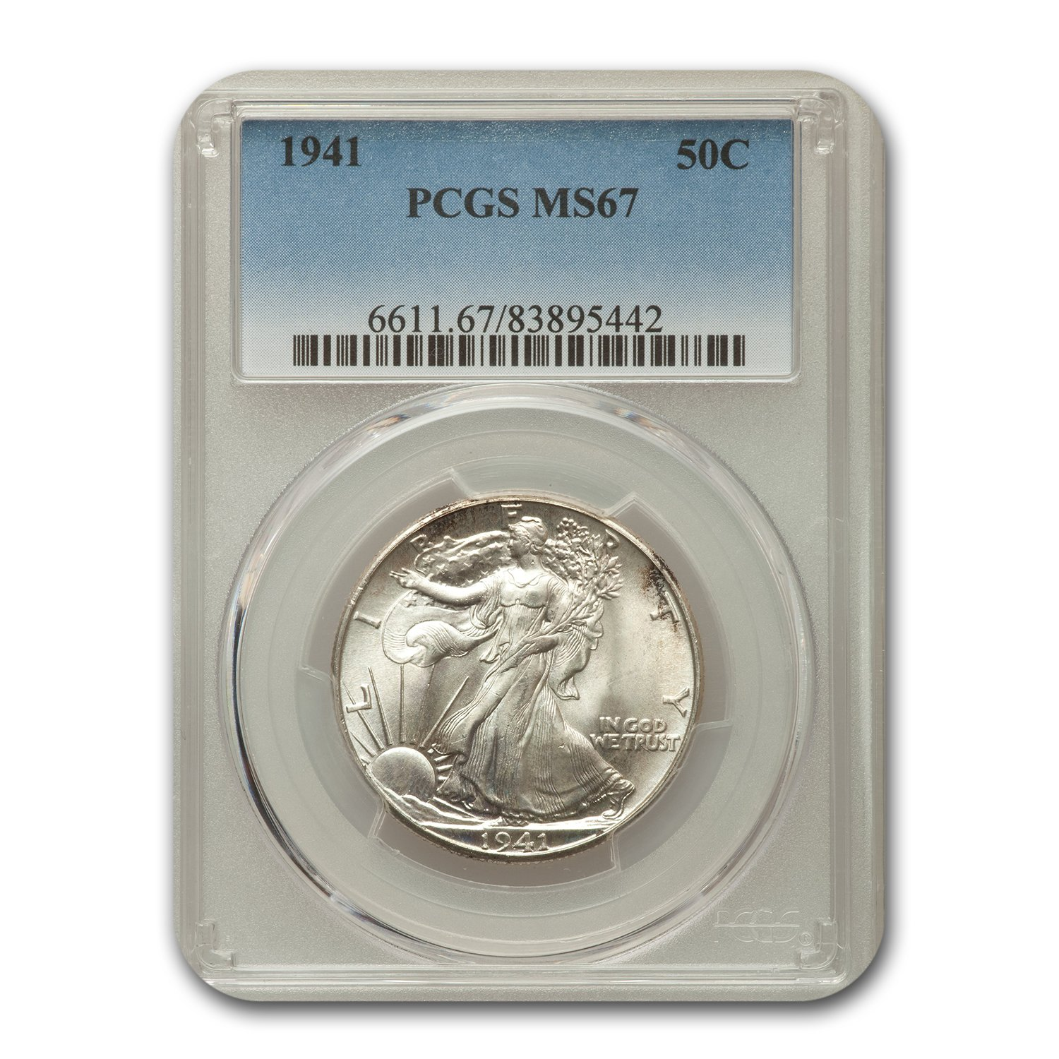 1941 Walking Liberty Half Dollar MS-67 PCGS