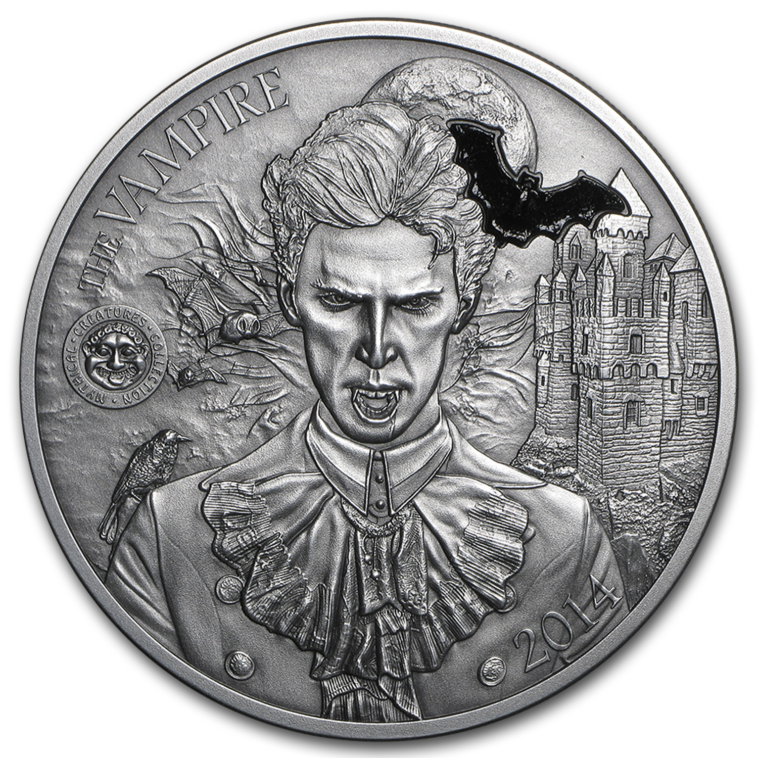 2014 Palau 2 oz Silver Mythical Creatures Collection Vampire