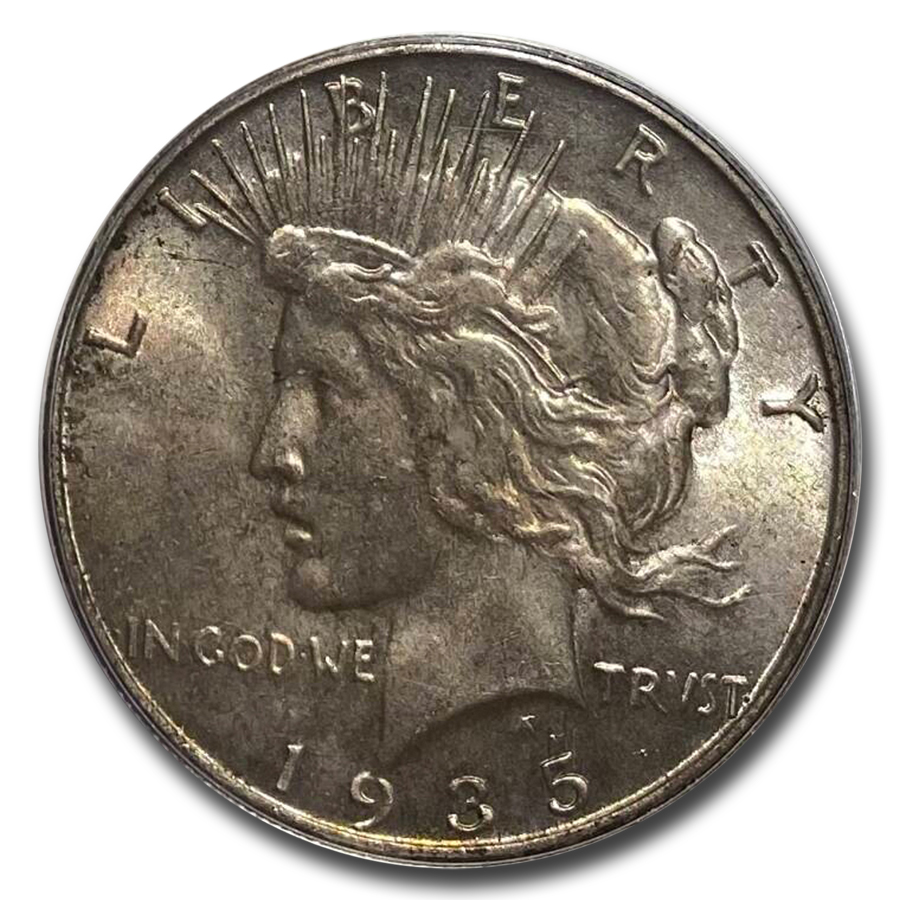 1935-S Peace Dollar MS-62 PCGS