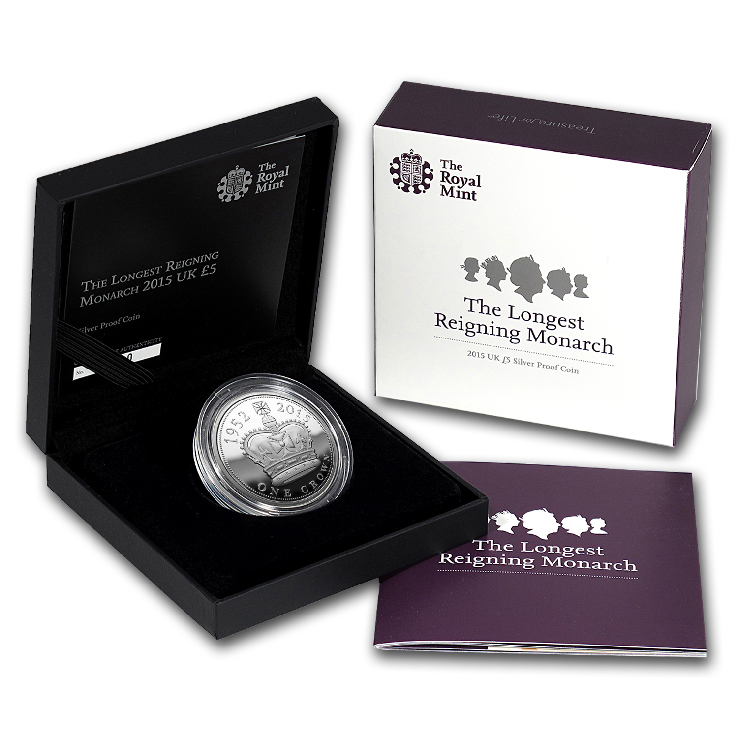 2015 Great Britain £5 Silver Longest Reigning Monarch Proof