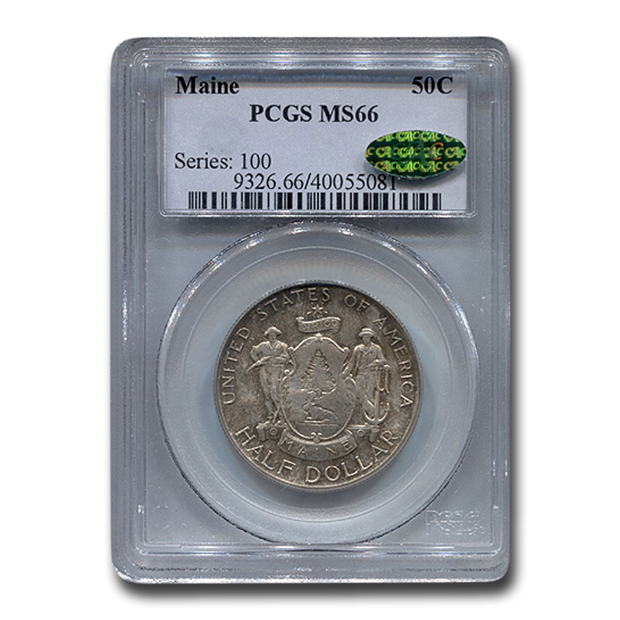 1920 Maine Half Dollar MS-66 PCGS (CAC)