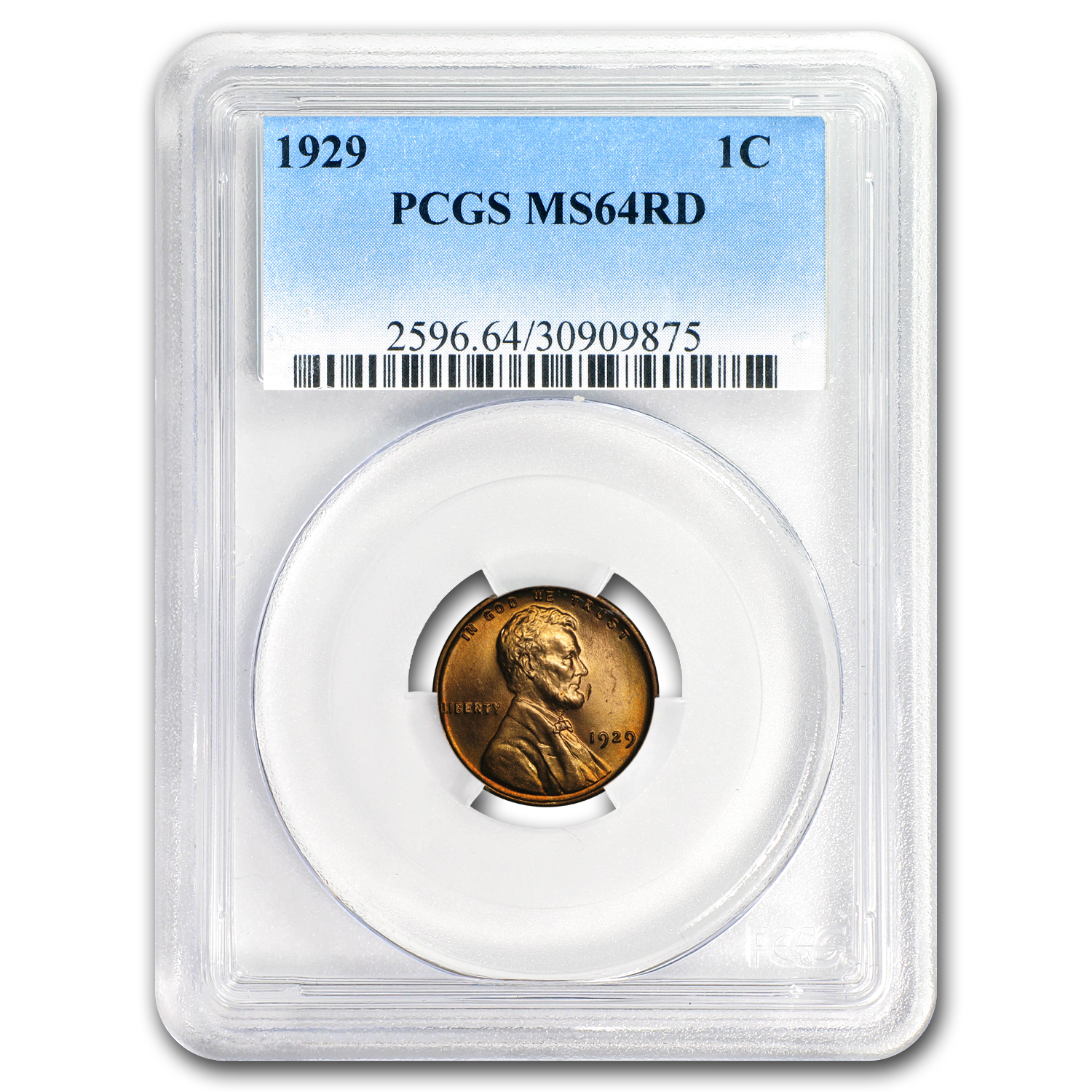 1929 Lincoln Cent MS-64 PCGS (Red)