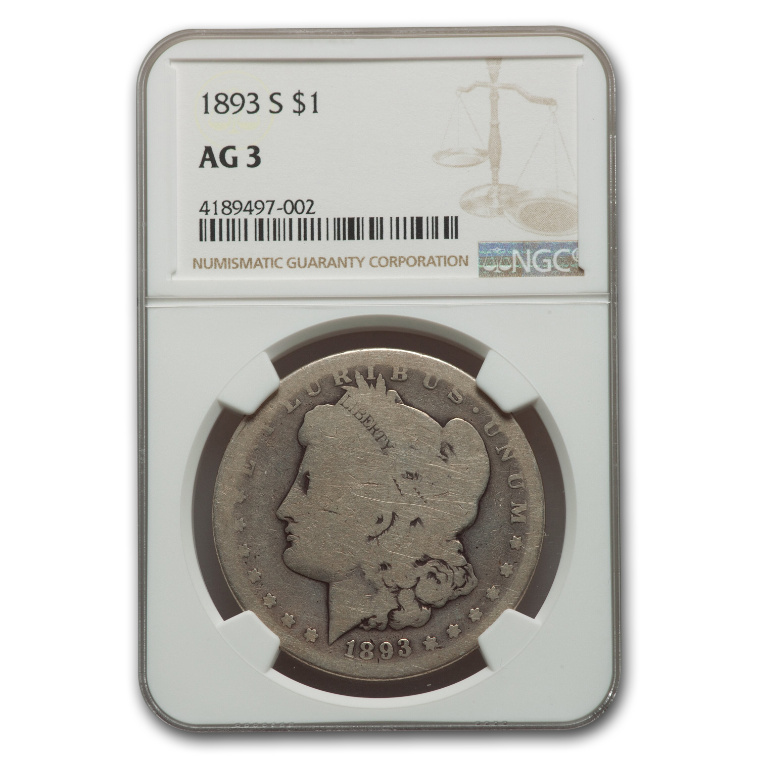 1893-S Morgan Dollar AG-3 NGC (Key Date)