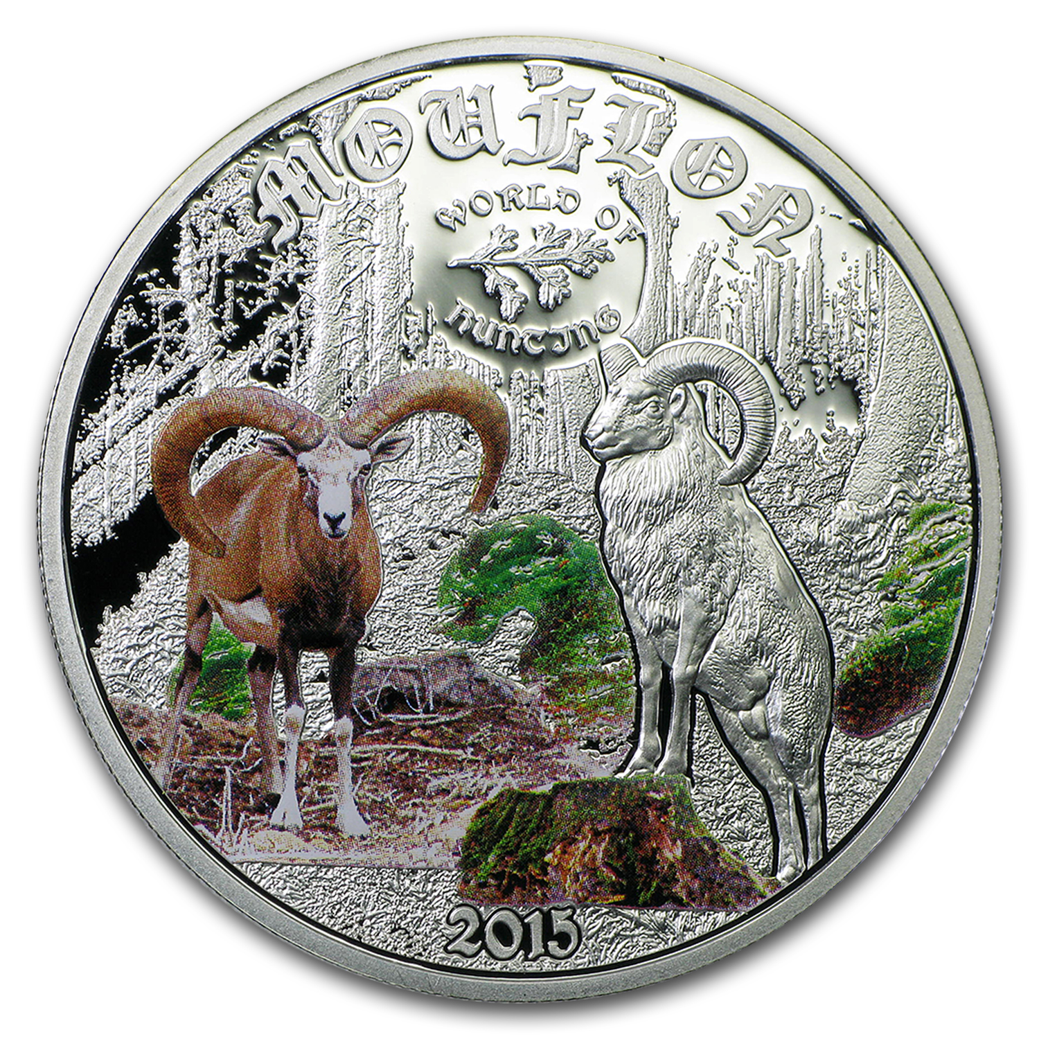 2015 Cook Islands 1/2 oz Silver World of Hunting Mouflon