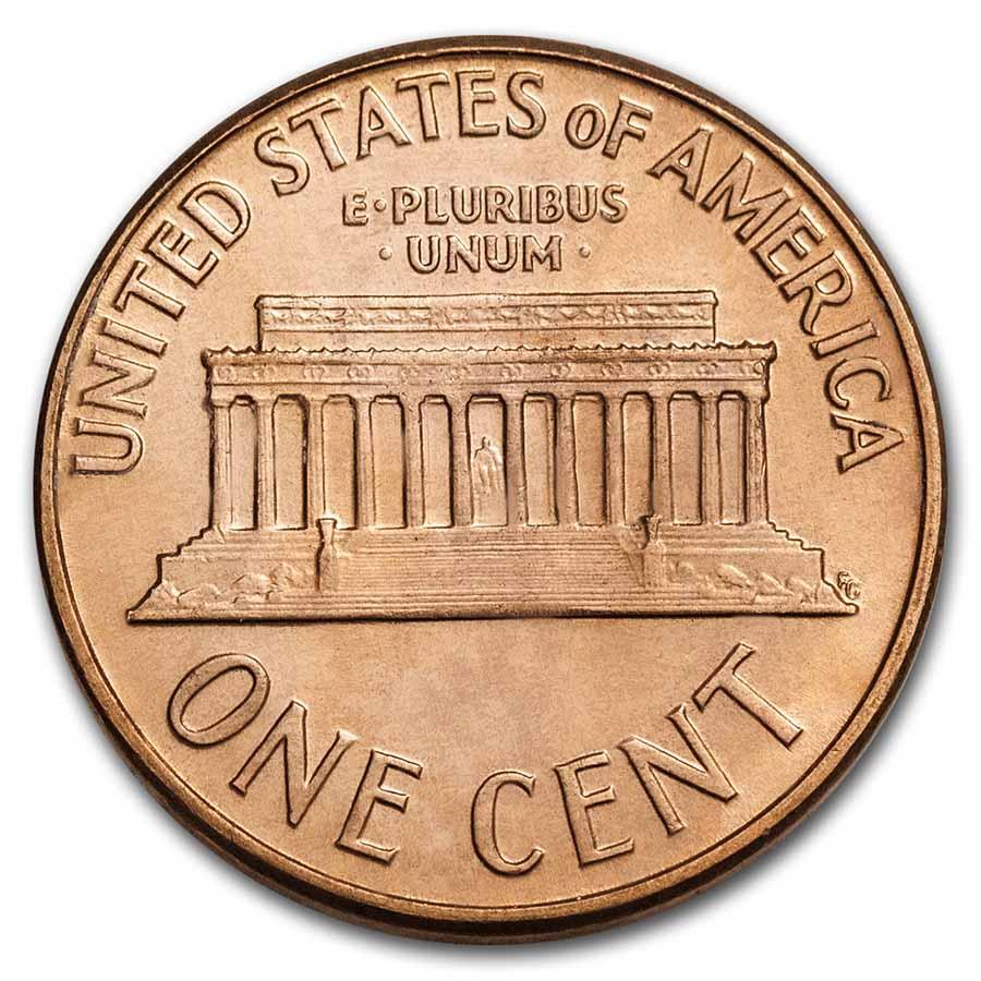 1961 D Lincoln Memorial Cent Roll 50ct Brilliant