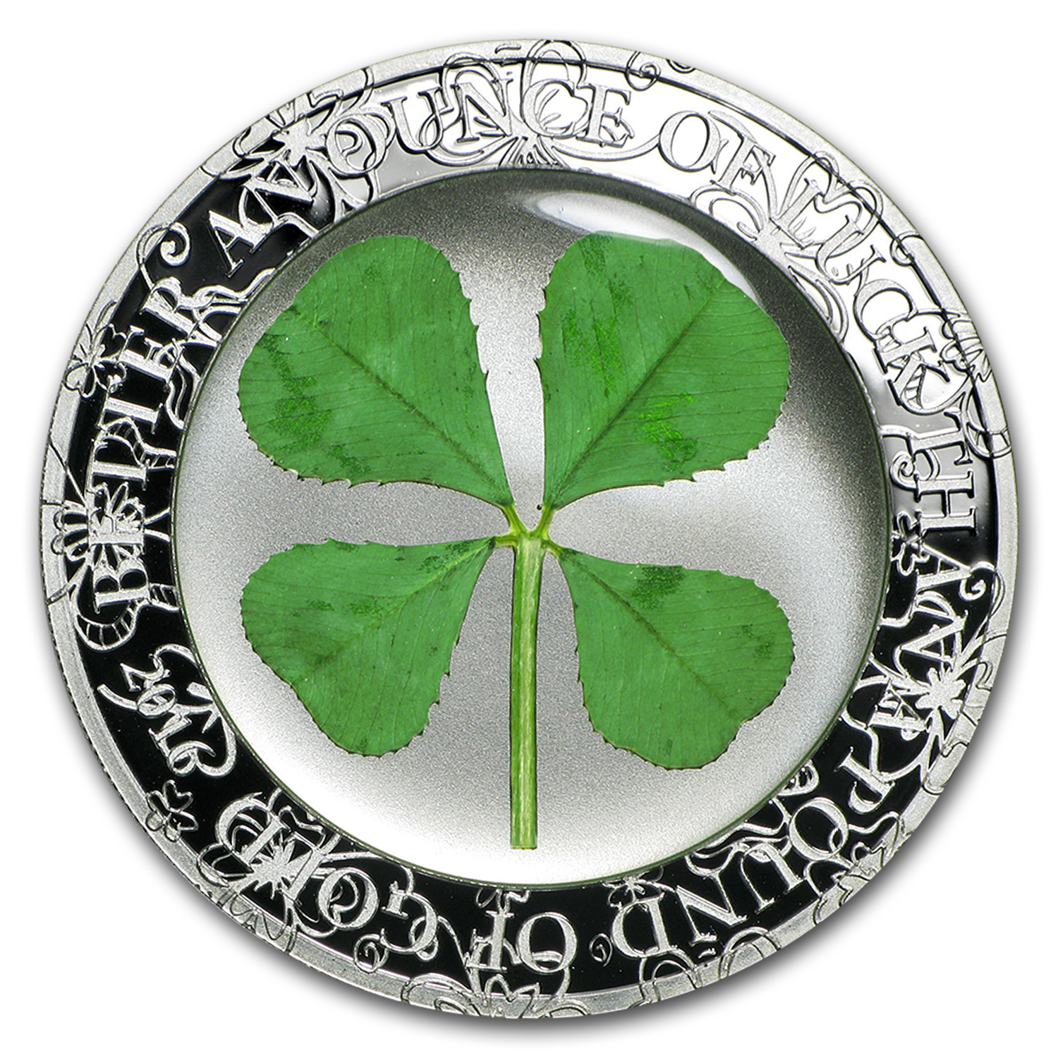 2016 Palau 1 oz Silver $5 Four-Leaf Clover Ounce of Luck Proof