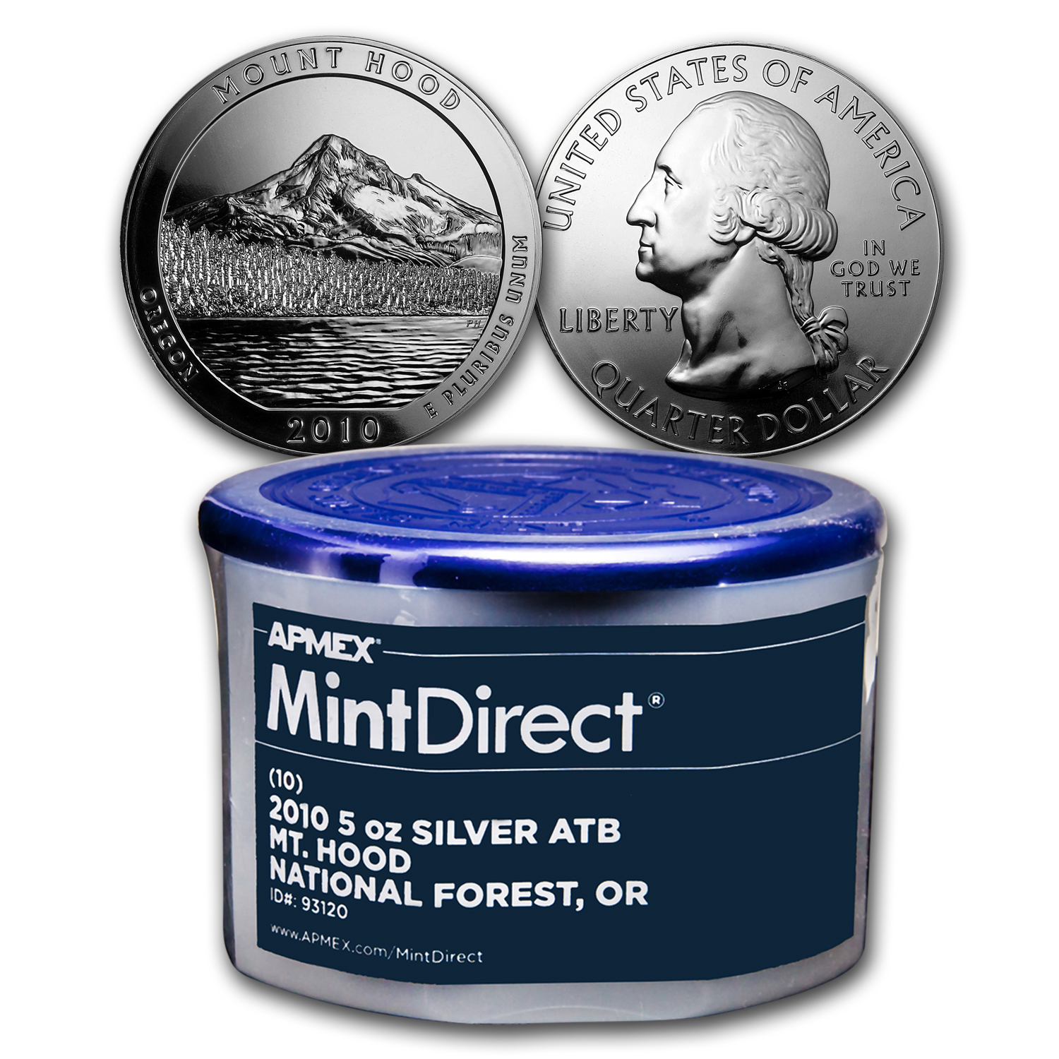 2010 5 oz Silver ATB Mount Hood (10-Coin MintDirect® Tube)