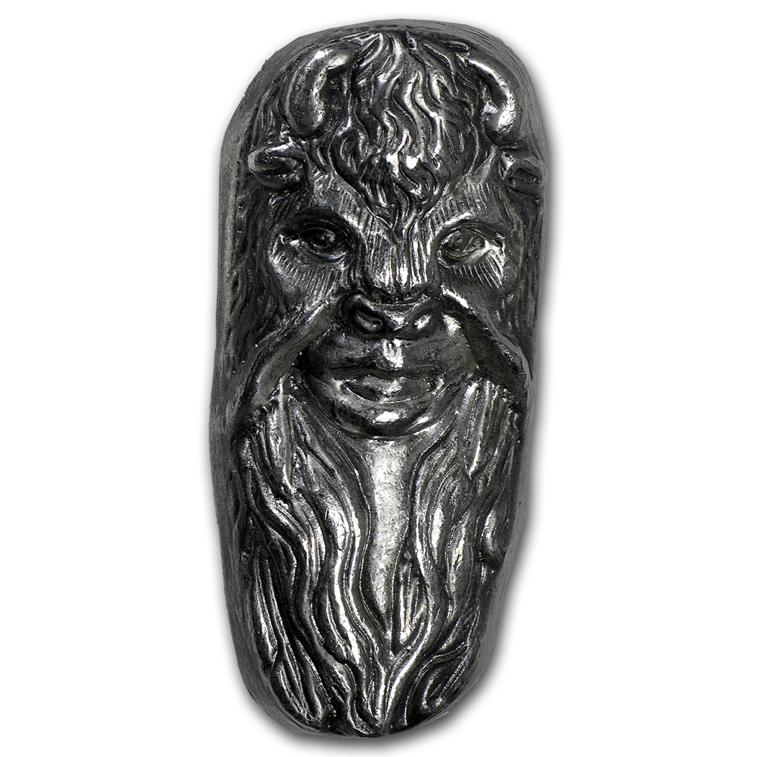 7 oz Silver Bar - Bison Bullion (Bison Mask Girl)