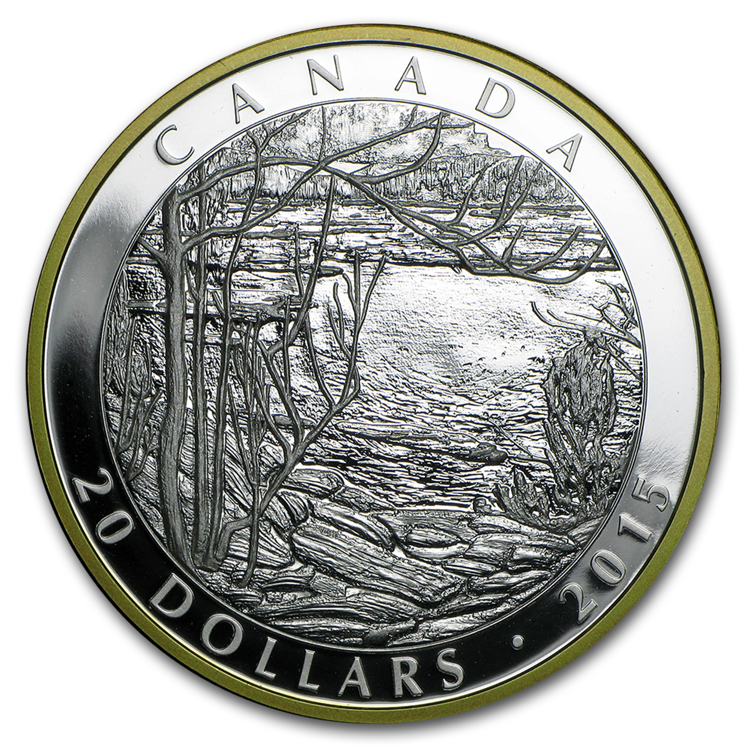 2015 Canada Silver $20 Proof Spring Ice (Tom Thomson)