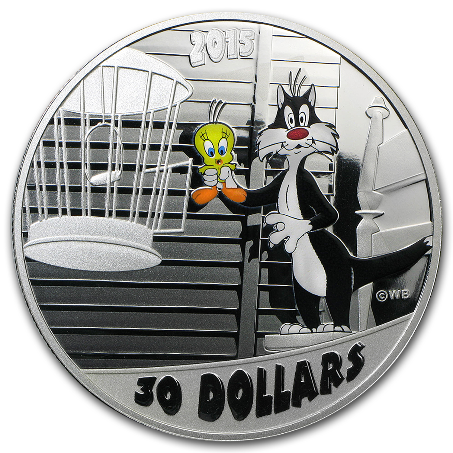 2015 Canada 2 oz Silver $30 Looney Tunes Birds Anonymous