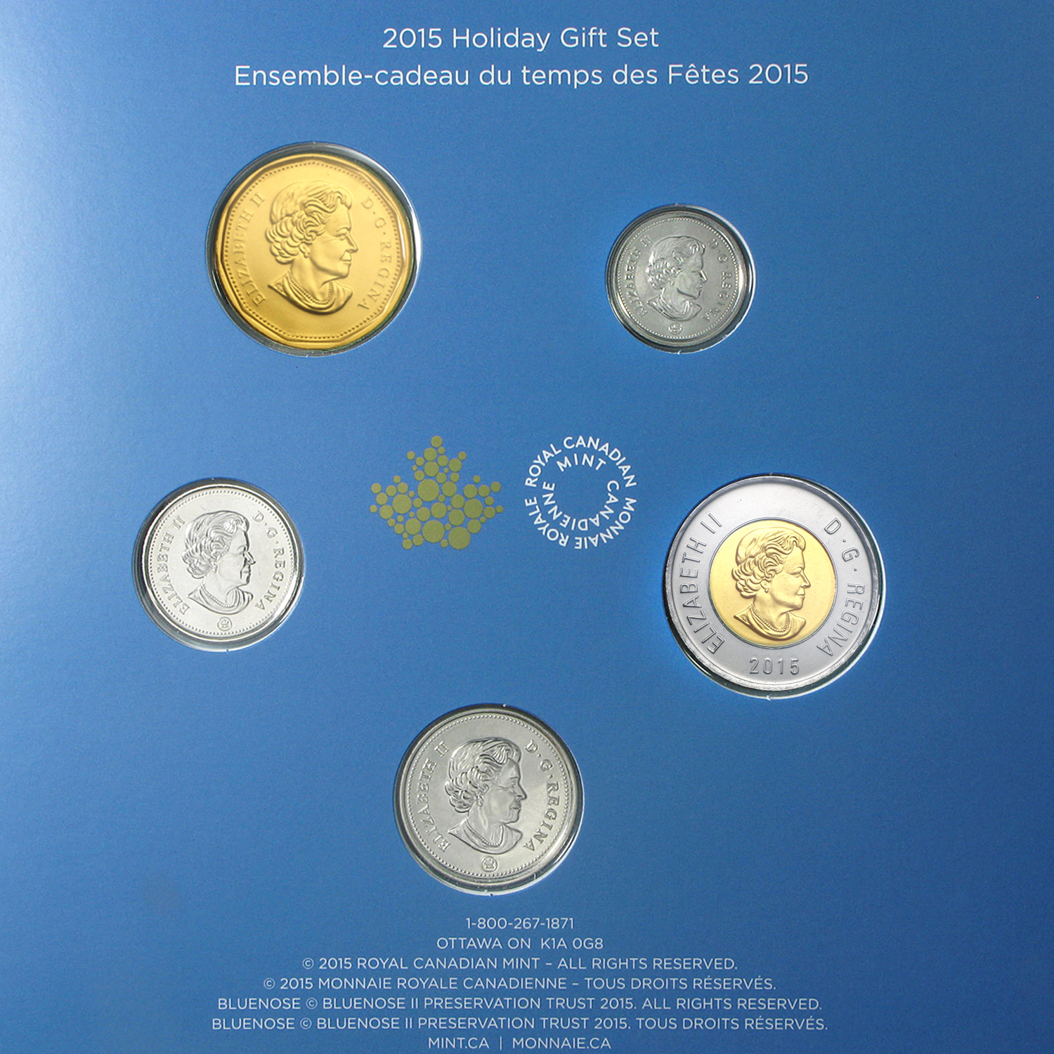 2015 Canada 5-Coin Mint Holiday Gift Set