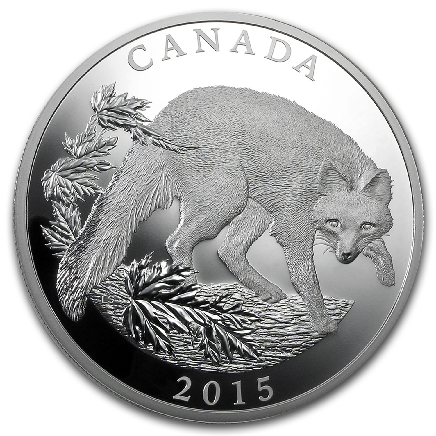 2015 Canada 1/2 kilo Proof Silver $125 Grey Fox