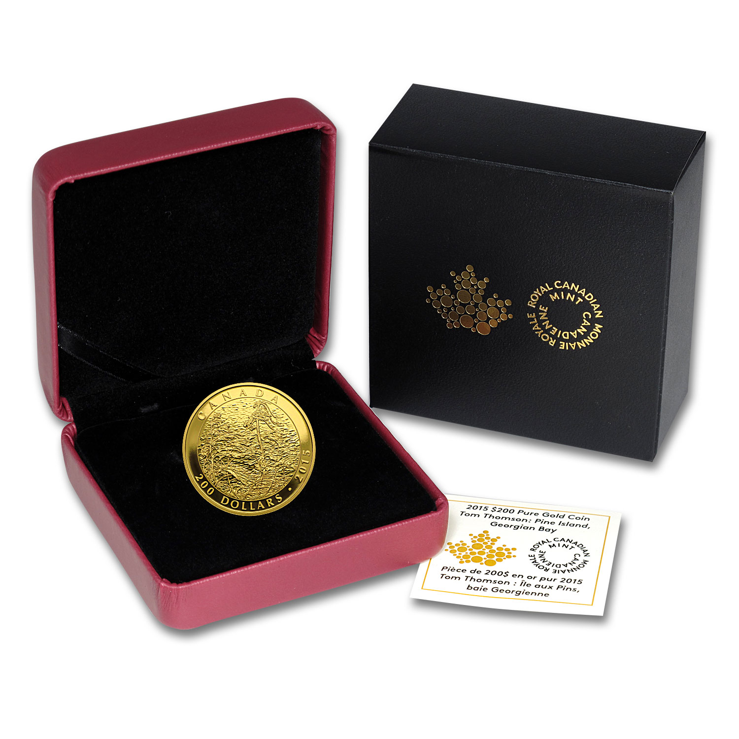 2015 Canada 1 oz Proof Gold $200 Tom Thomson: Pine Island