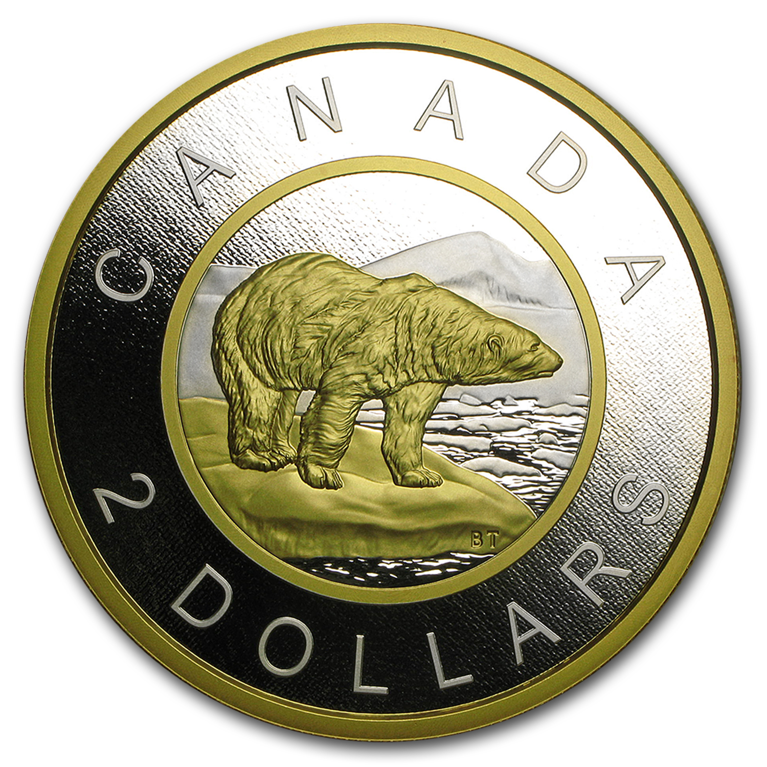 2015 Canada 5oz Proof Silver Polar Bear Big Coin Series ($2 Coin)
