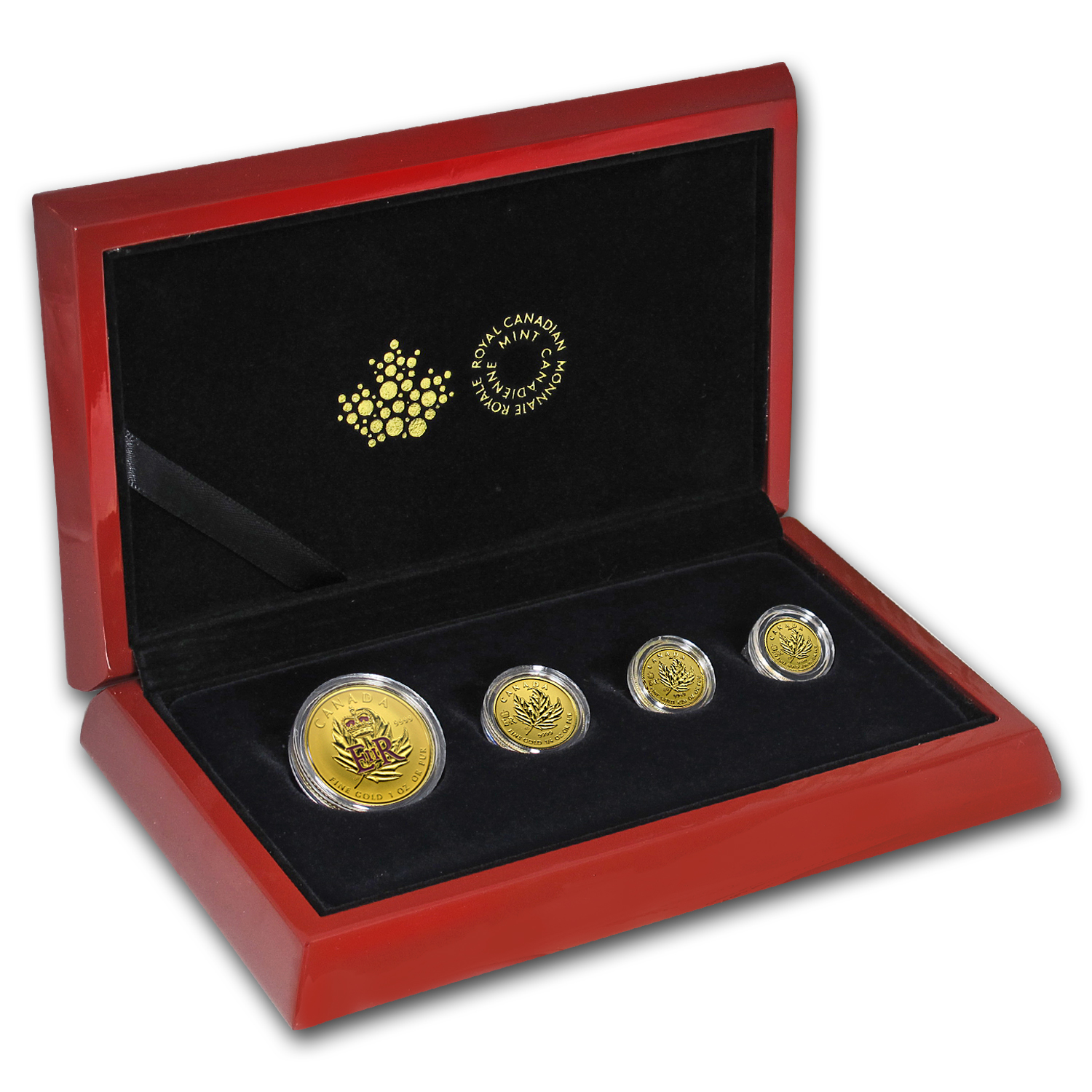 2016 Canada 4-Coin Gold Fractional Maple Leaf Set (1.4 oz)