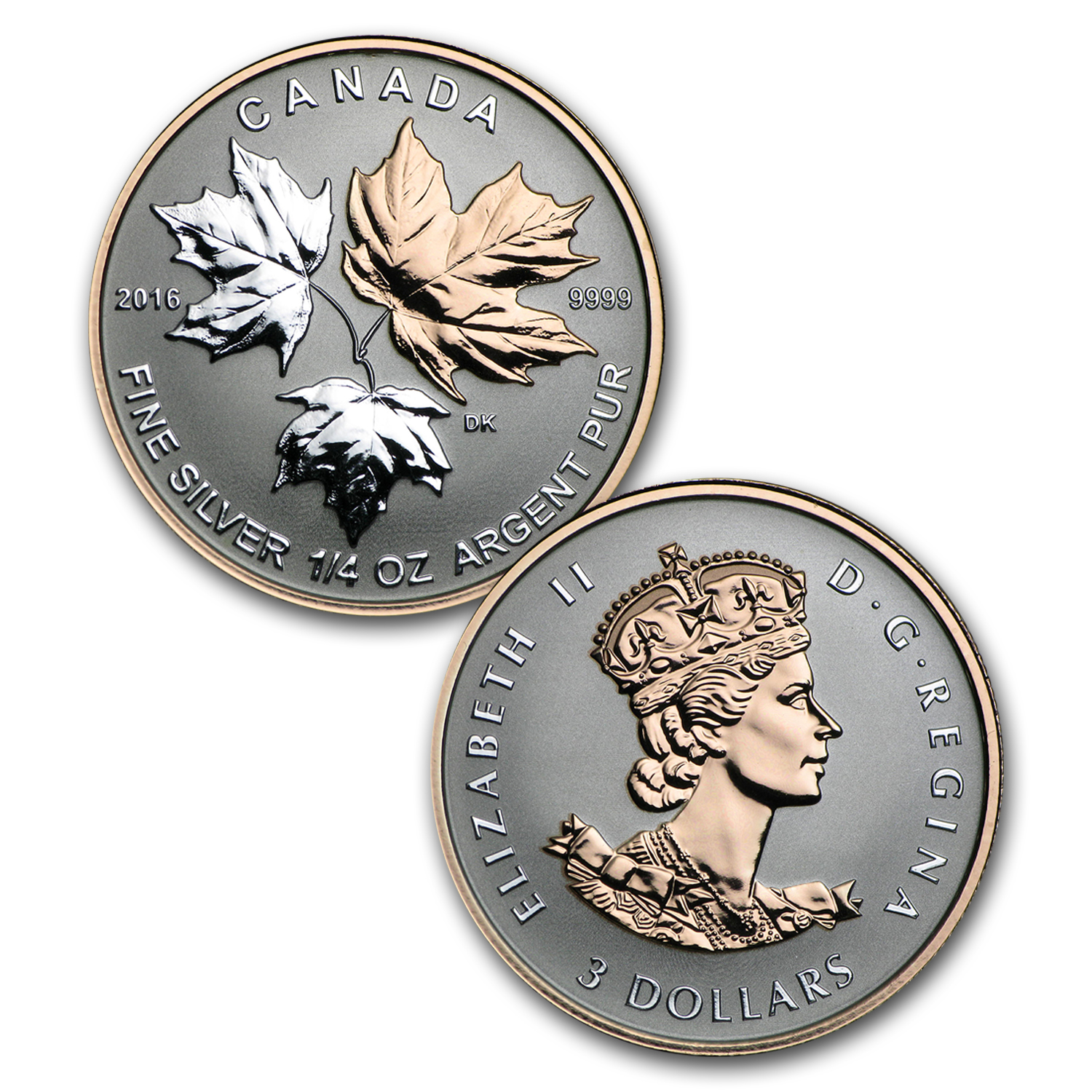 2016 Canada 5-Coin Reverse Proof Silver Maple Fractional Set