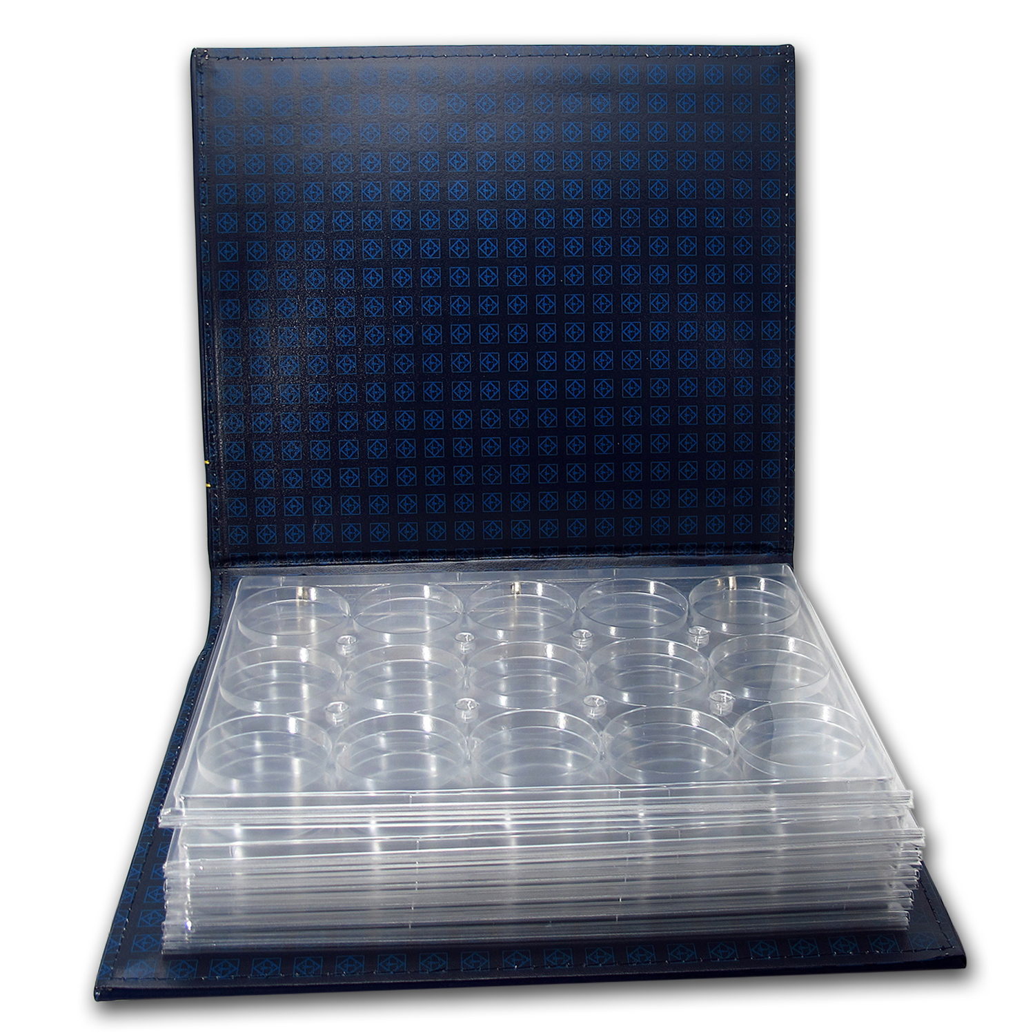 Vista 3-Ring Binder for Coins in Capsules - Holds 90 Coins
