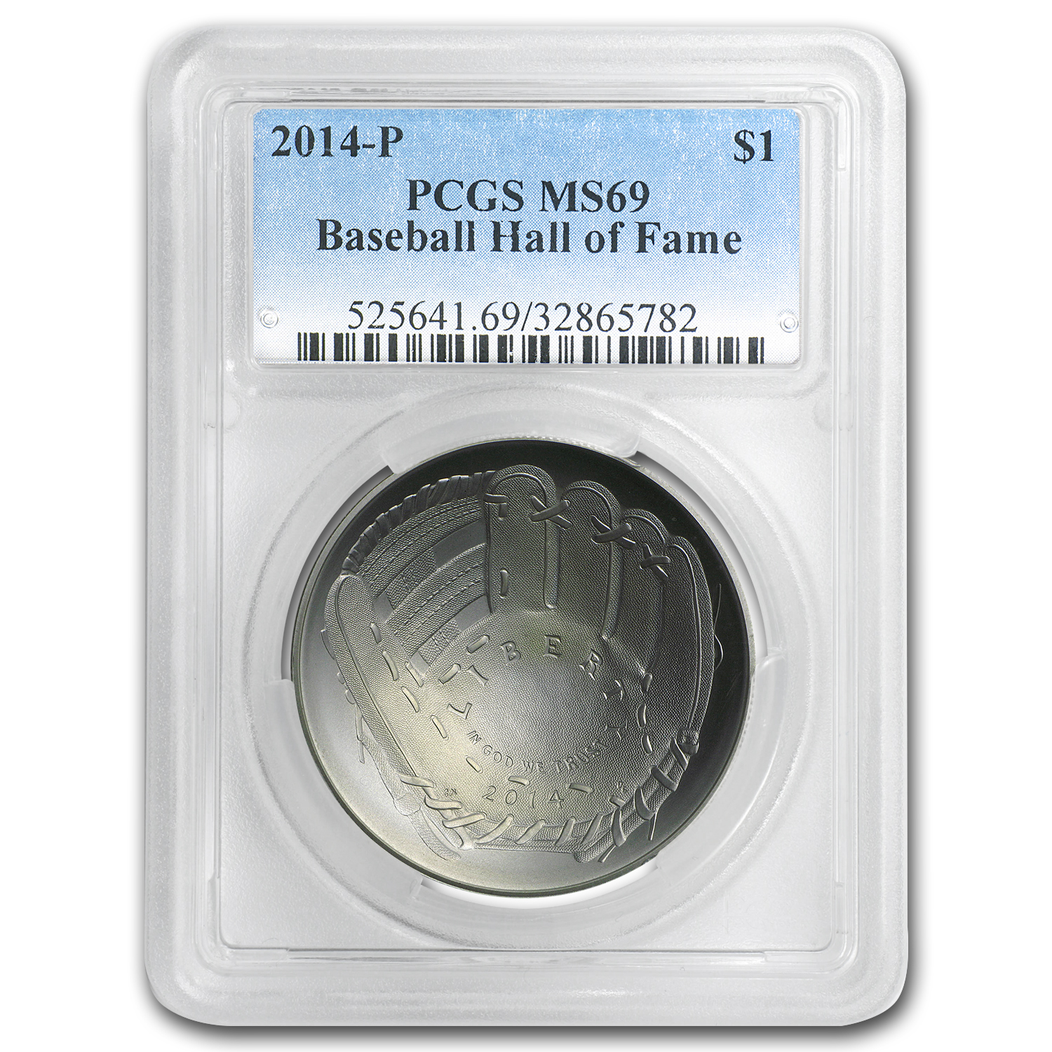 2014-P Baseball HOF $1 Silver Commem MS-69 PCGS
