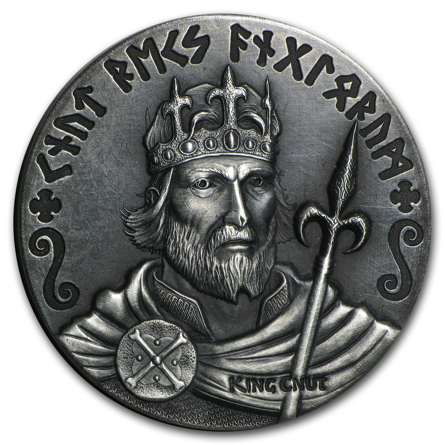 2 Oz Silver Coin Viking Series King Cnut Viking
