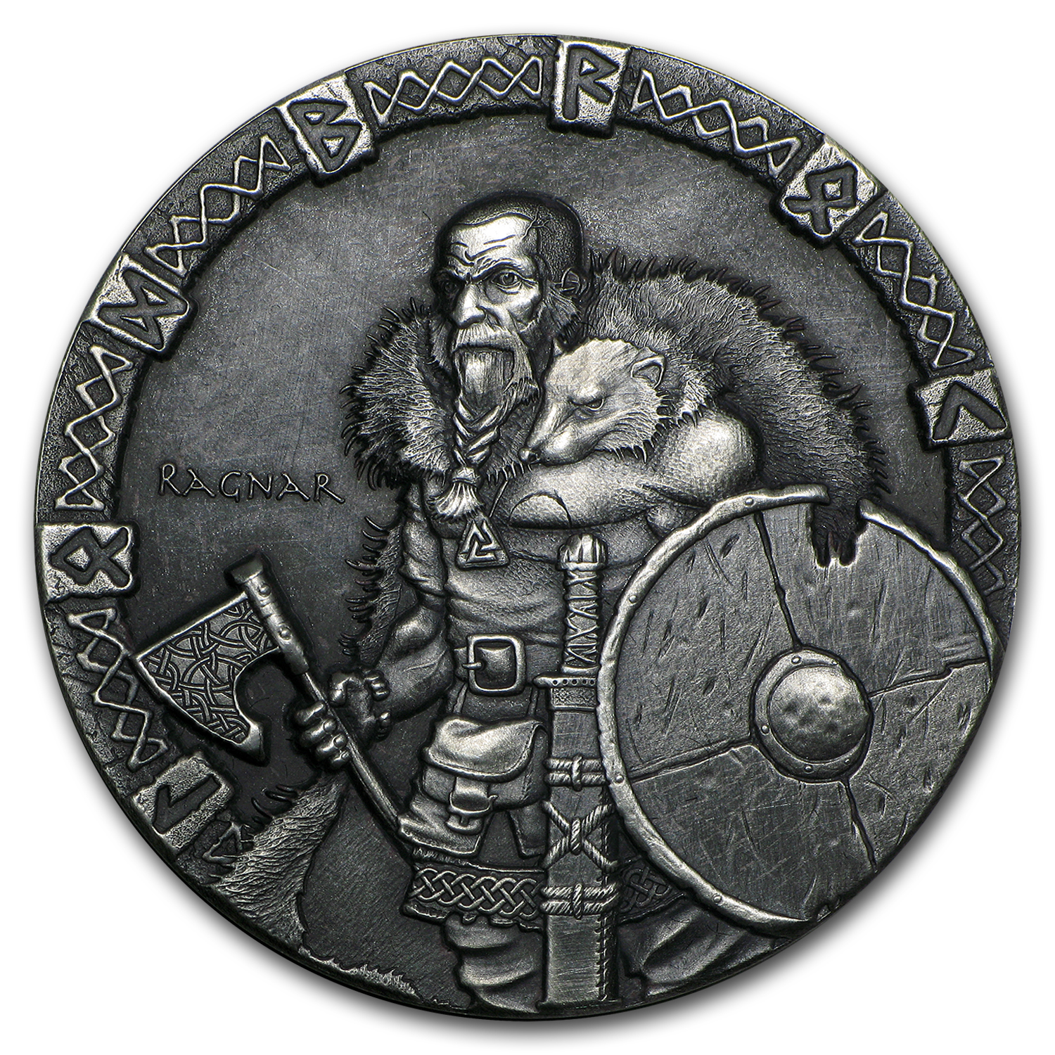 2015 2 oz Silver Coin Viking Series (Ragnar)