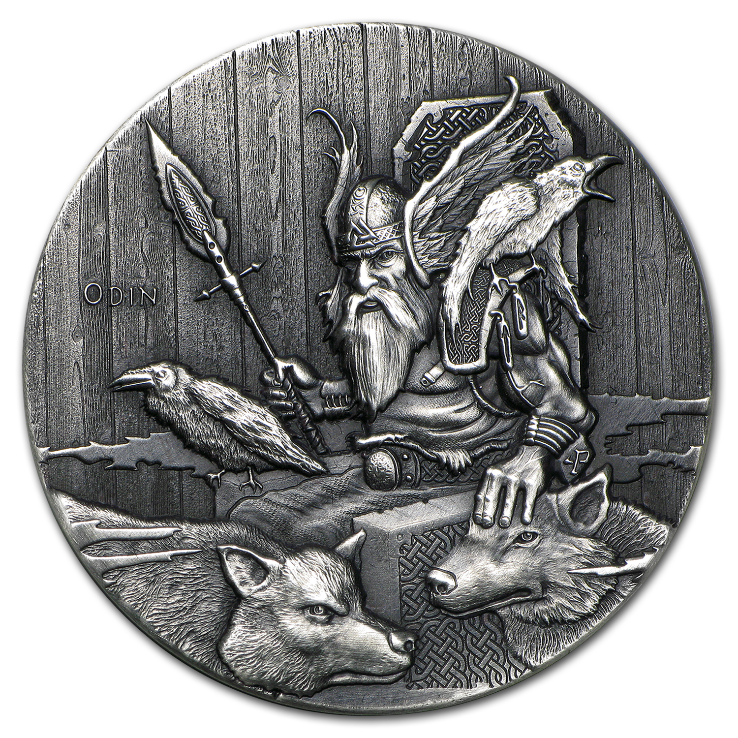 2015 2 oz Silver Coin Viking Series (Odin)